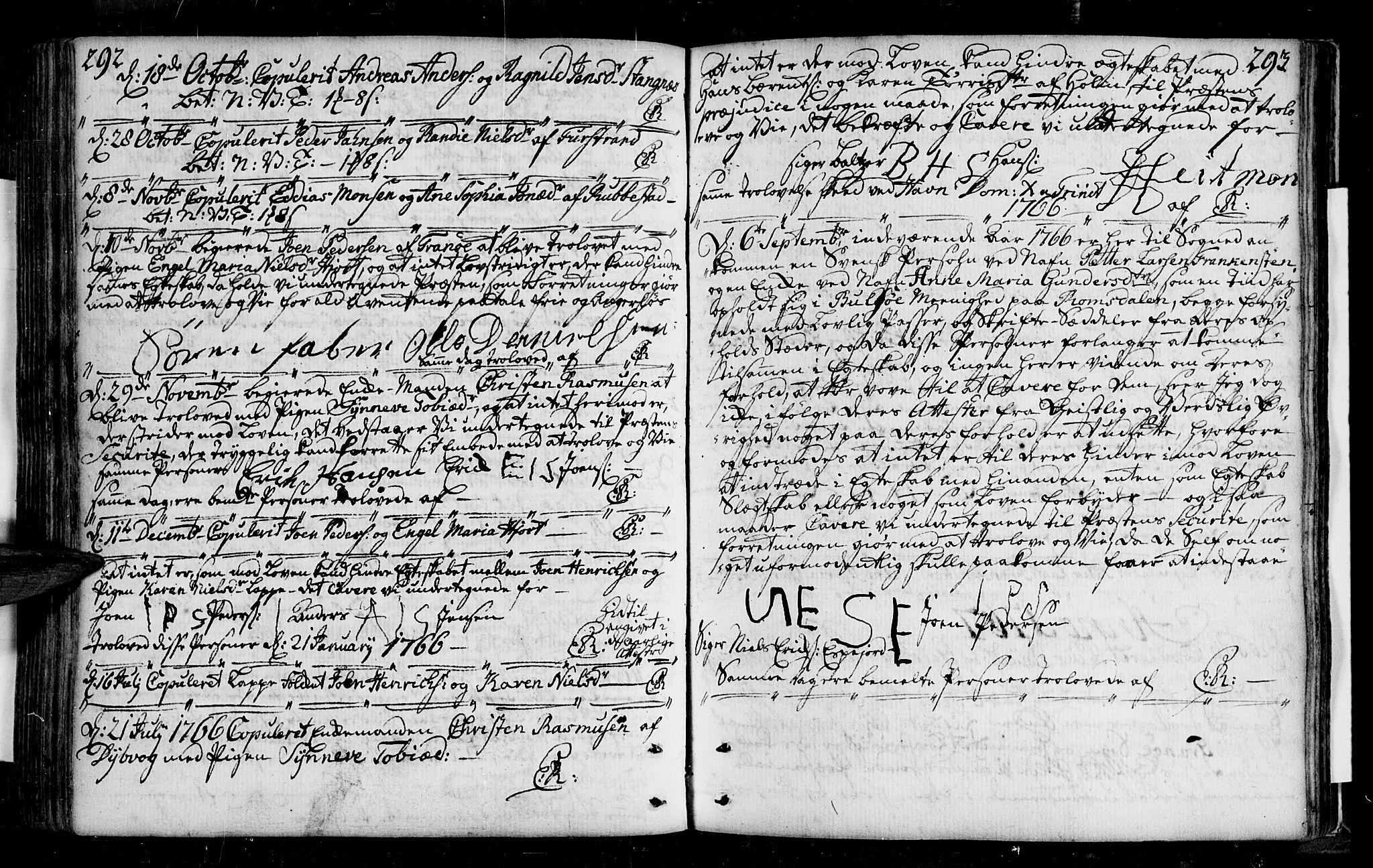 SATØ, Tranøy sokneprestkontor, I/Ia/Iaa/L0001kirke: Ministerialbok nr. 1, 1757-1773, s. 292-293