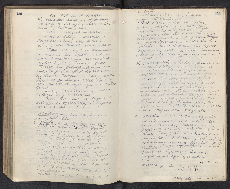 SAB, Lensmannen i Aurland, 0012/L0003: Branntakstprotokoll, 1917-1944, s. 250