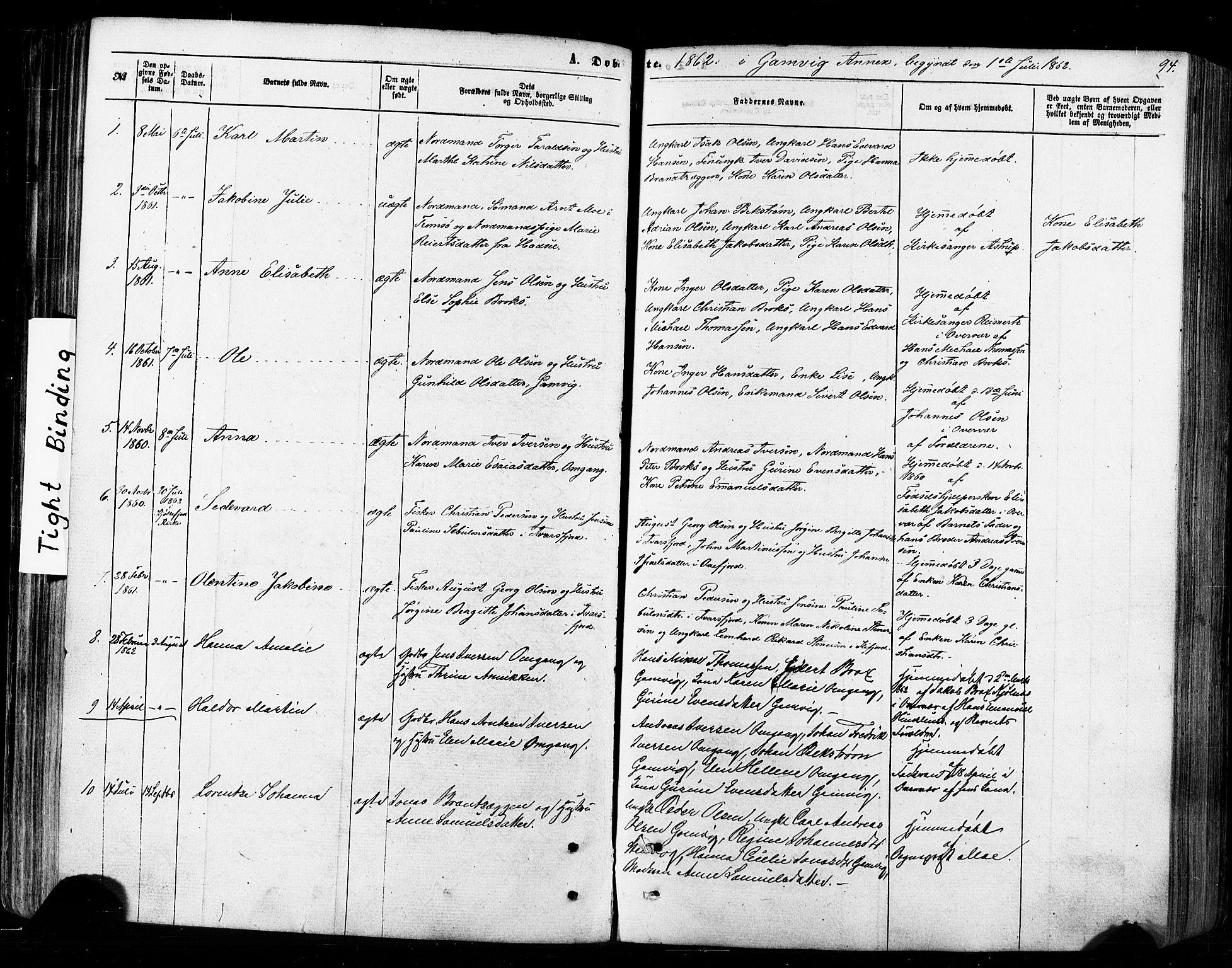 SATØ, Tana sokneprestkontor, H/Ha/L0002kirke: Ministerialbok nr. 2 /2, 1862-1877, s. 94