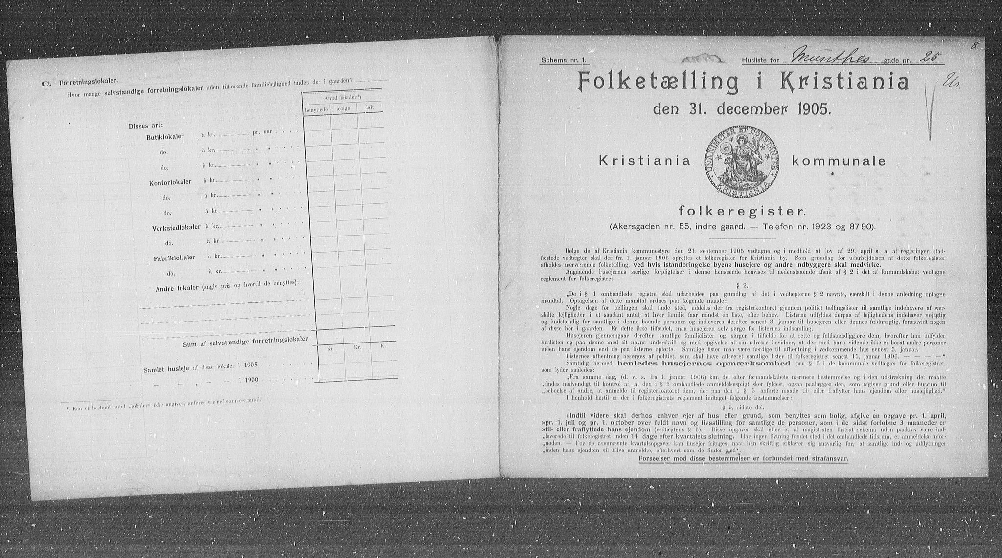 OBA, Kommunal folketelling 1905 for Kristiania kjøpstad, 1905, s. 35775