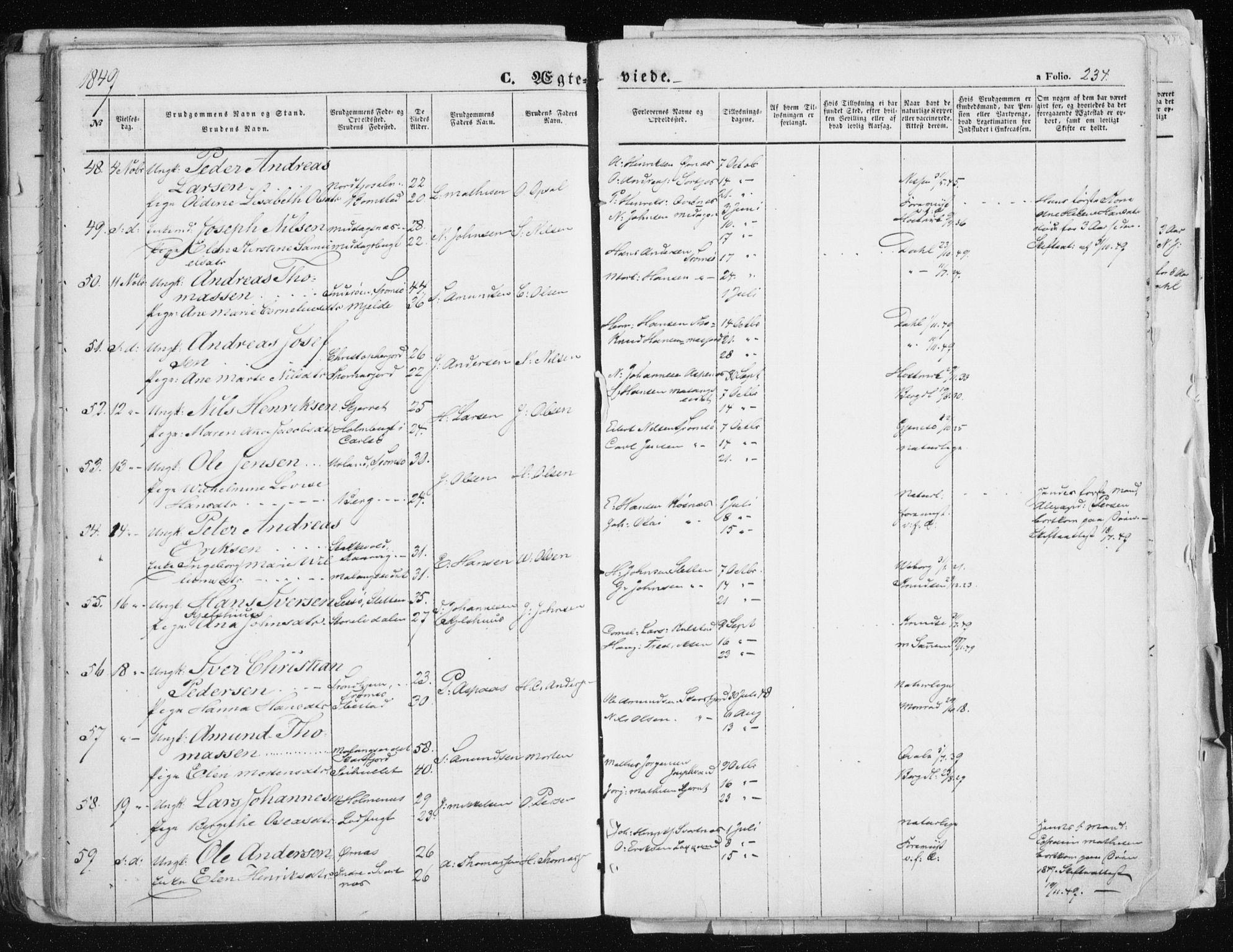 SATØ, Tromsø sokneprestkontor/stiftsprosti/domprosti, G/Ga/L0010kirke: Ministerialbok nr. 10, 1848-1855, s. 234