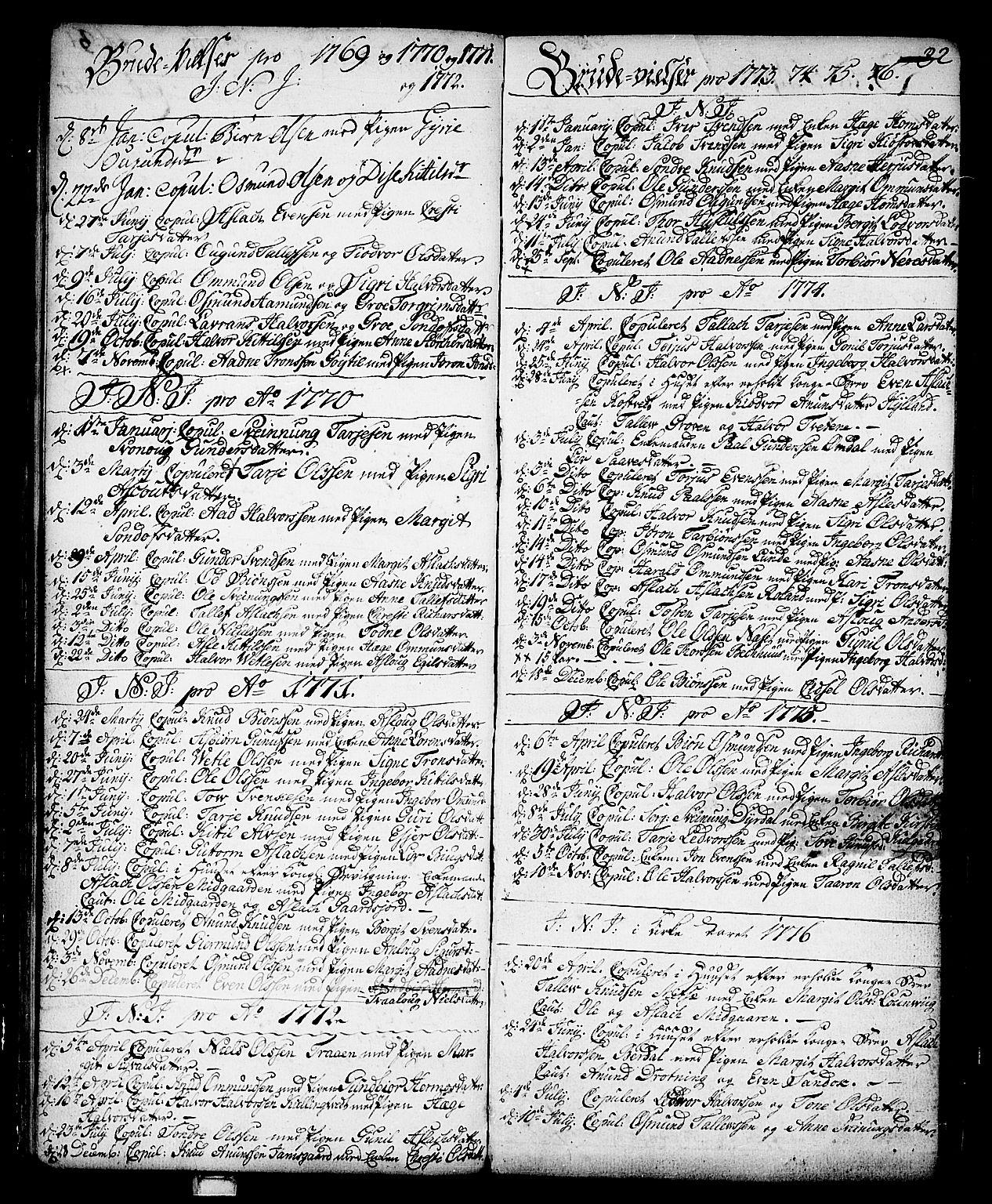 SAKO, Vinje kirkebøker, F/Fa/L0002: Ministerialbok nr. I 2, 1767-1814, s. 32
