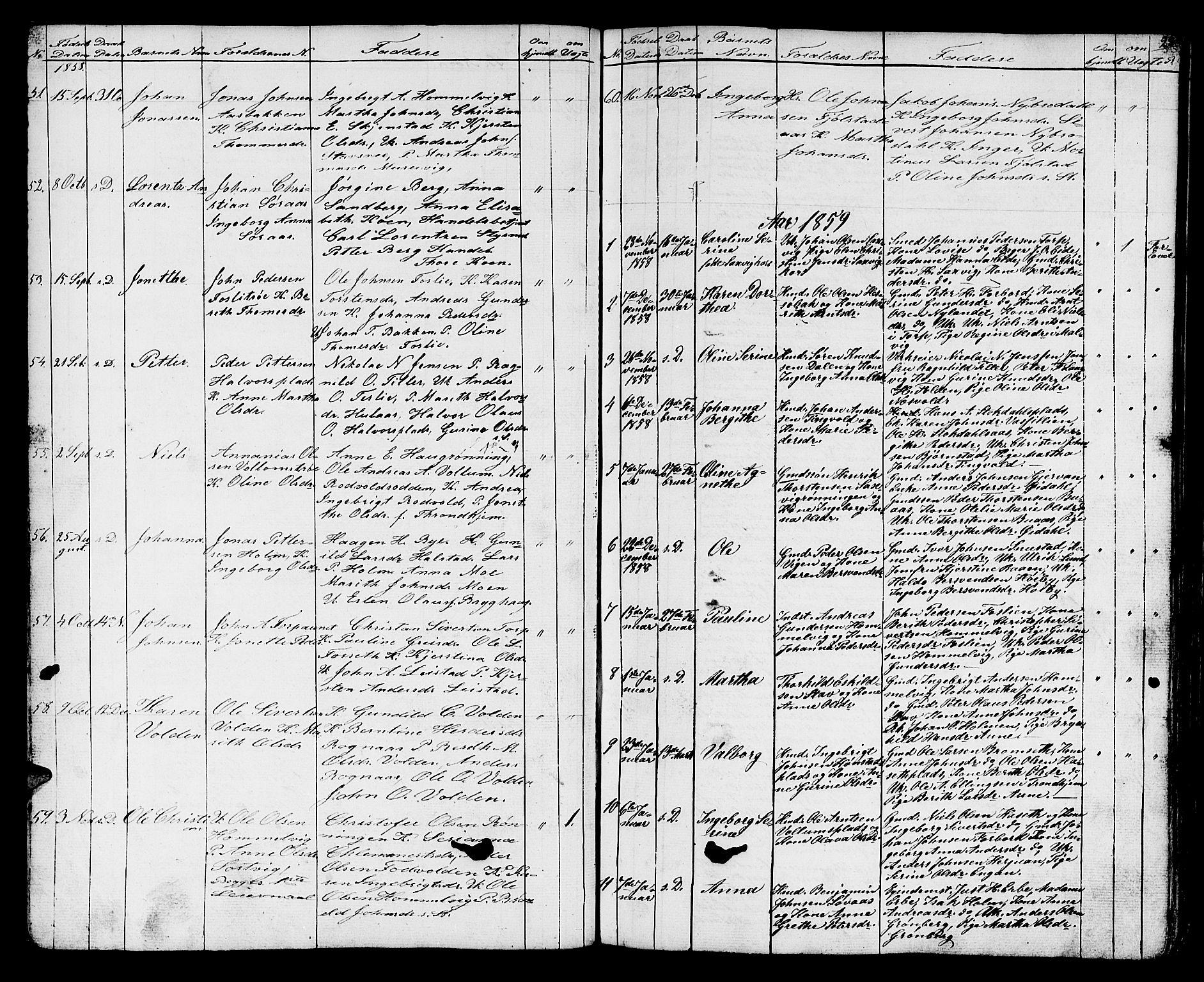 SAT, Ministerialprotokoller, klokkerbøker og fødselsregistre - Sør-Trøndelag, 616/L0422: Klokkerbok nr. 616C05, 1850-1888, s. 22
