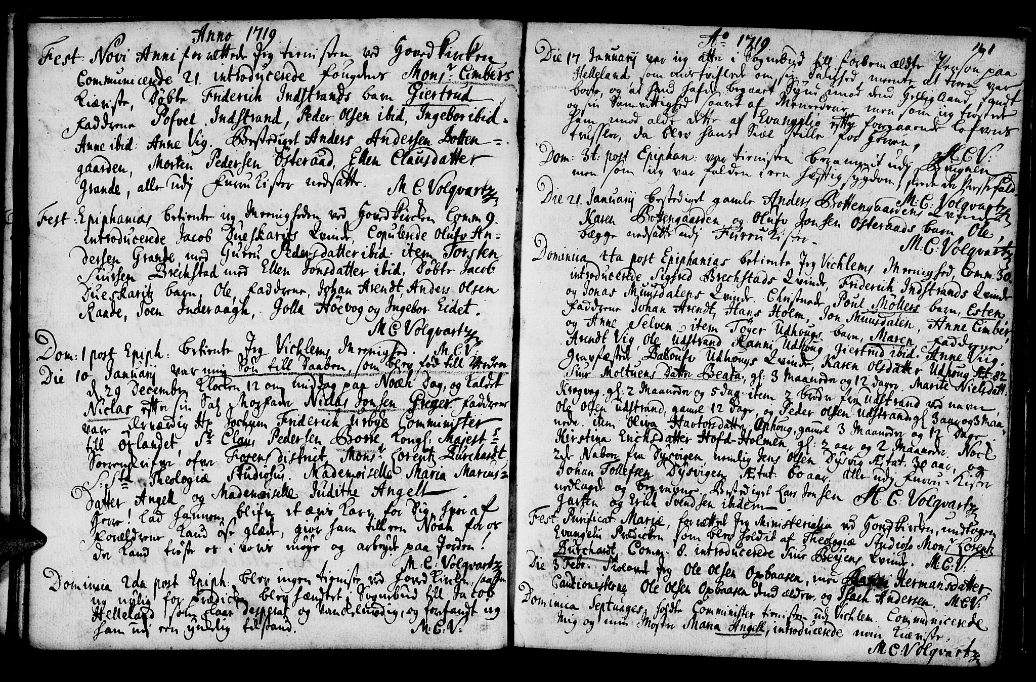 SAT, Ministerialprotokoller, klokkerbøker og fødselsregistre - Sør-Trøndelag, 659/L0731: Ministerialbok nr. 659A01, 1709-1731, s. 160-161