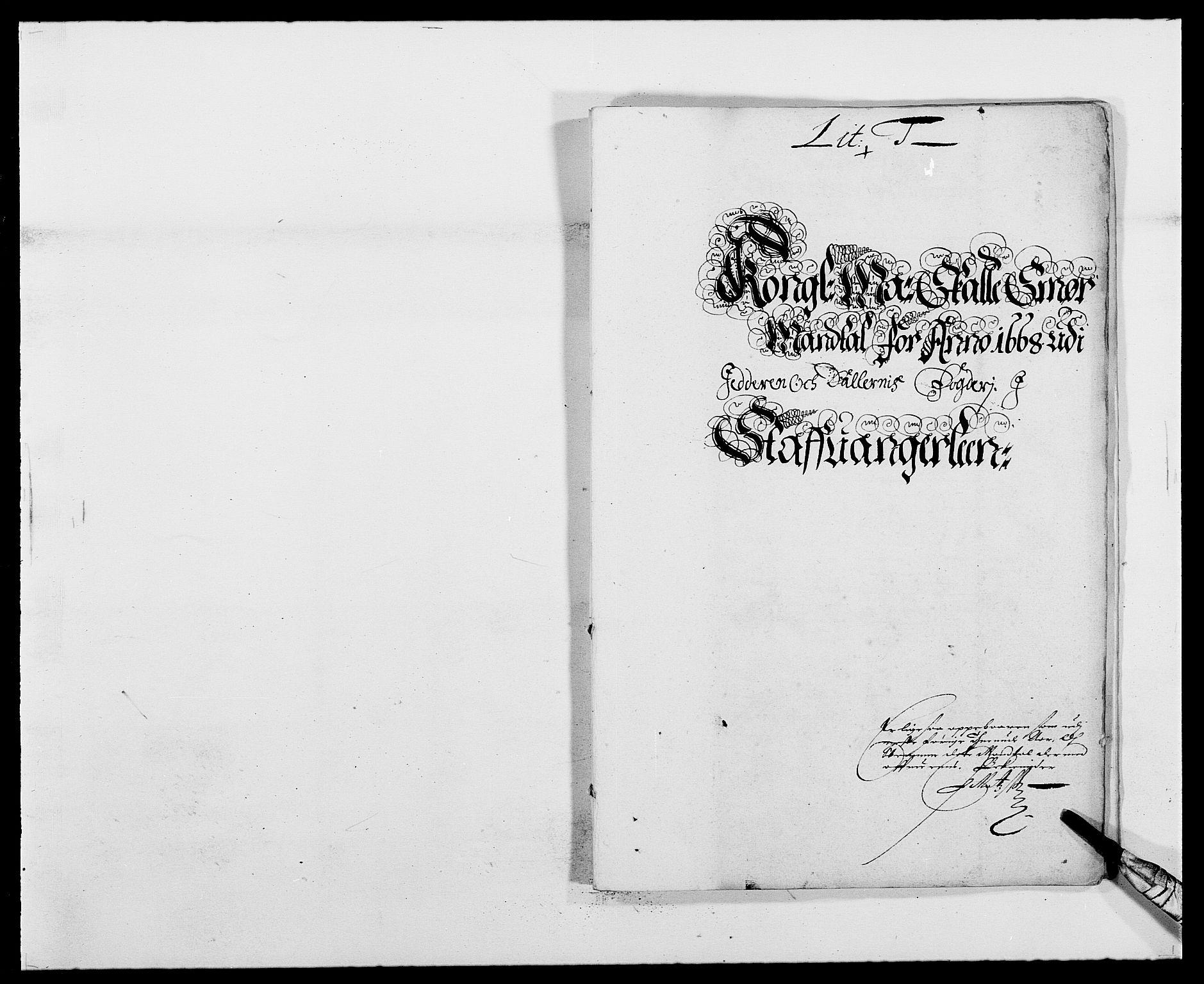 RA, Rentekammeret inntil 1814, Reviderte regnskaper, Fogderegnskap, R46/L2711: Fogderegnskap Jæren og Dalane, 1668-1670, s. 392