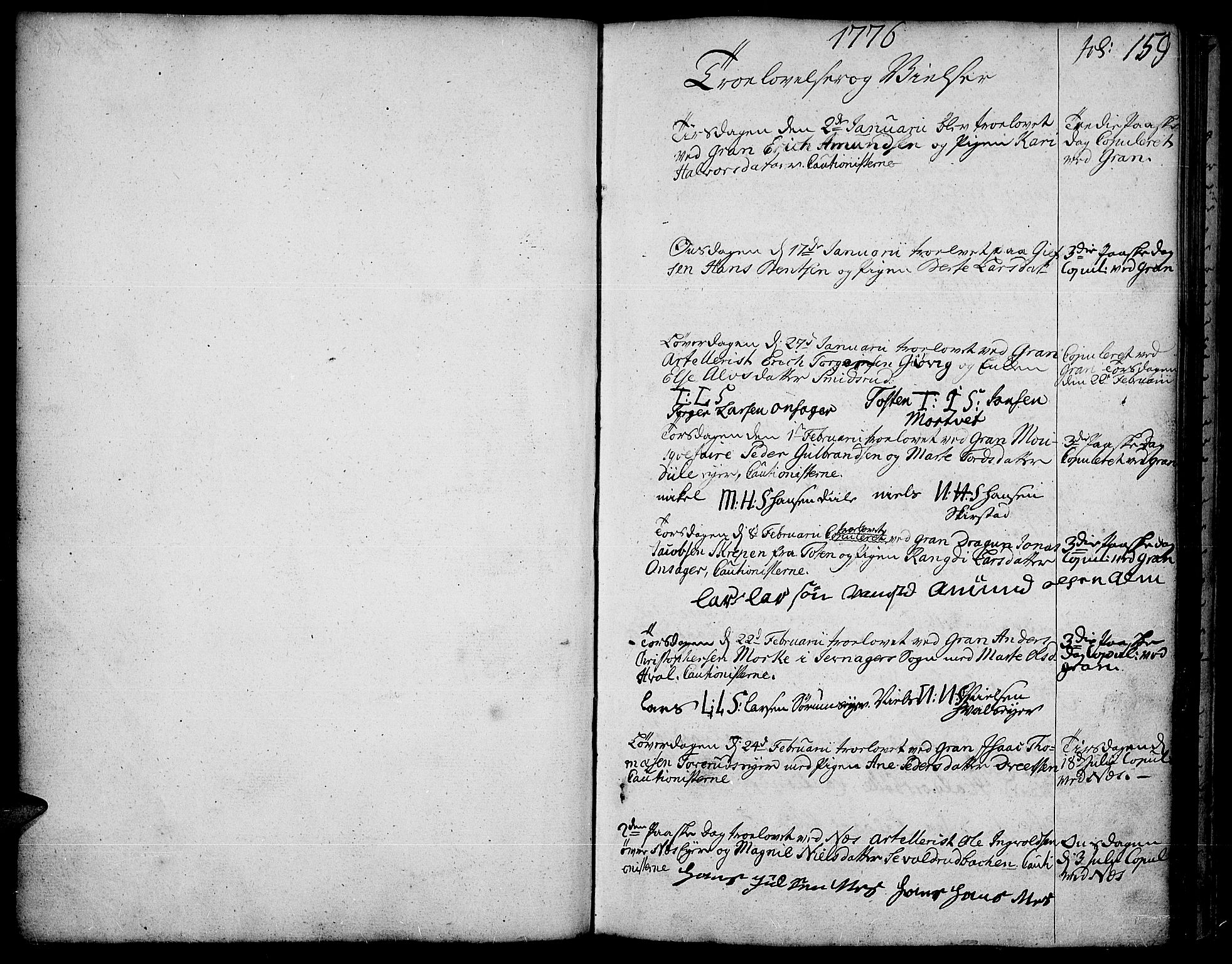SAH, Gran prestekontor, Ministerialbok nr. 5, 1776-1788, s. 159