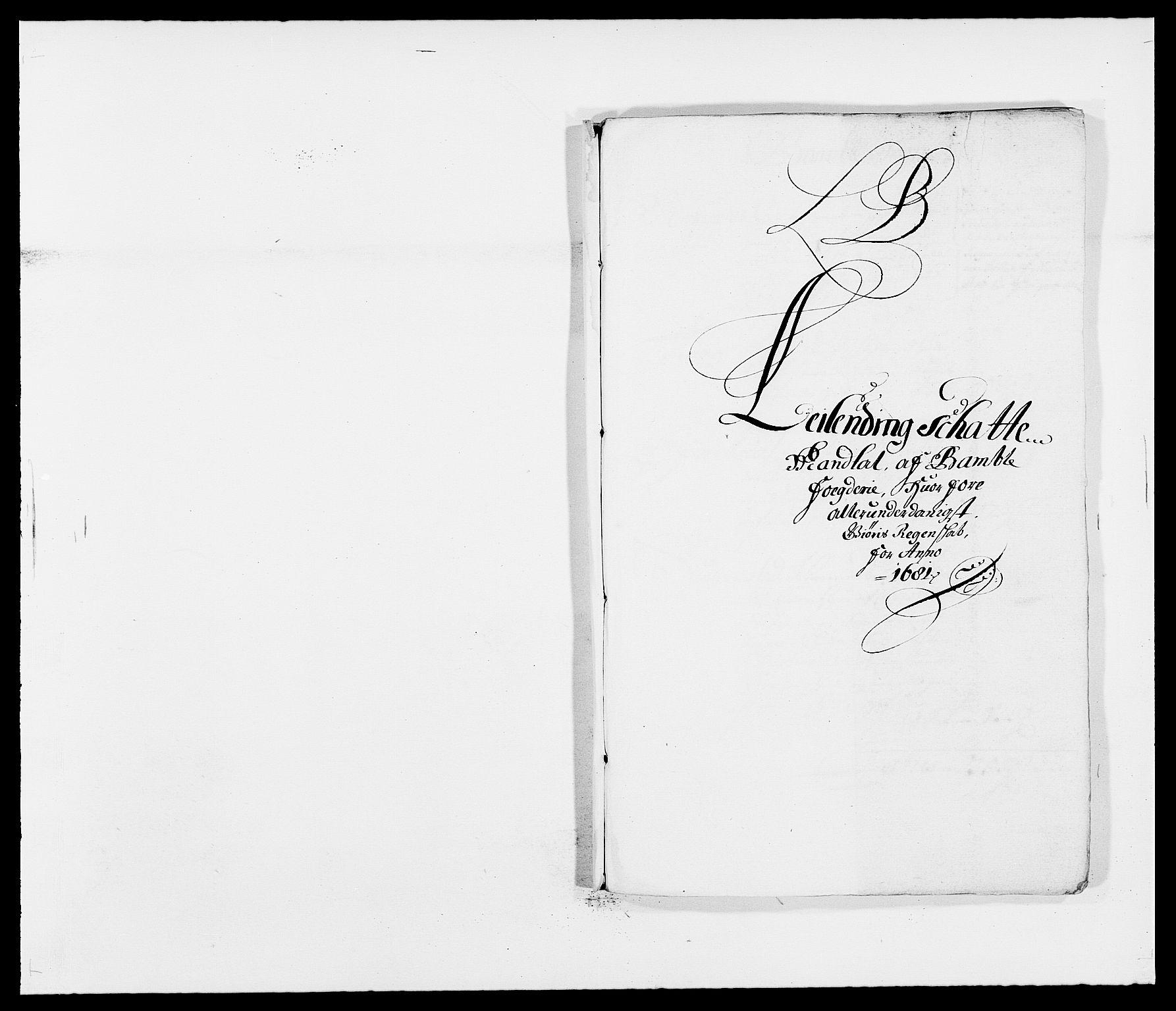 RA, Rentekammeret inntil 1814, Reviderte regnskaper, Fogderegnskap, R34/L2045: Fogderegnskap Bamble, 1680-1681, s. 273