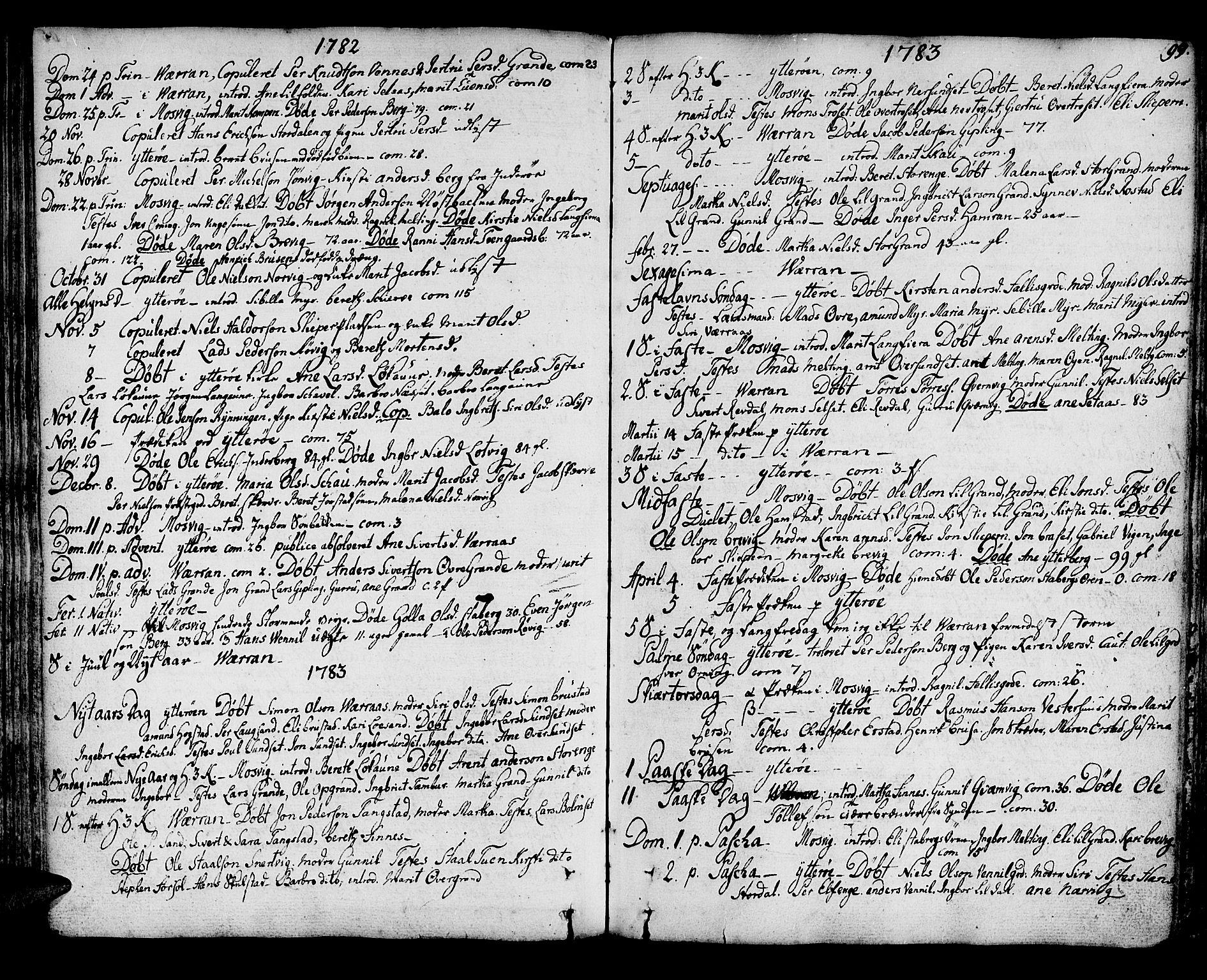SAT, Ministerialprotokoller, klokkerbøker og fødselsregistre - Nord-Trøndelag, 722/L0216: Ministerialbok nr. 722A03, 1756-1816, s. 99