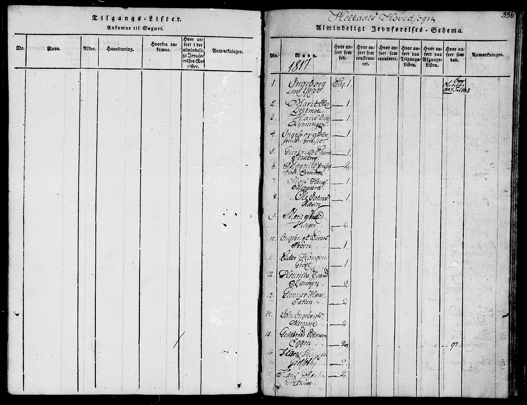 SAT, Ministerialprotokoller, klokkerbøker og fødselsregistre - Sør-Trøndelag, 685/L0954: Ministerialbok nr. 685A03 /1, 1817-1829, s. 336