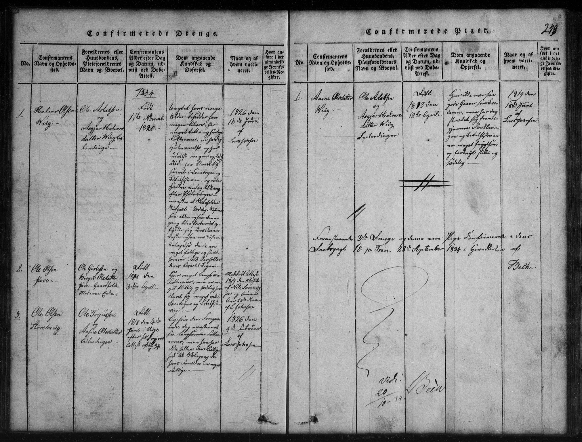 SAKO, Rauland kirkebøker, G/Gb/L0001: Klokkerbok nr. II 1, 1815-1886, s. 248