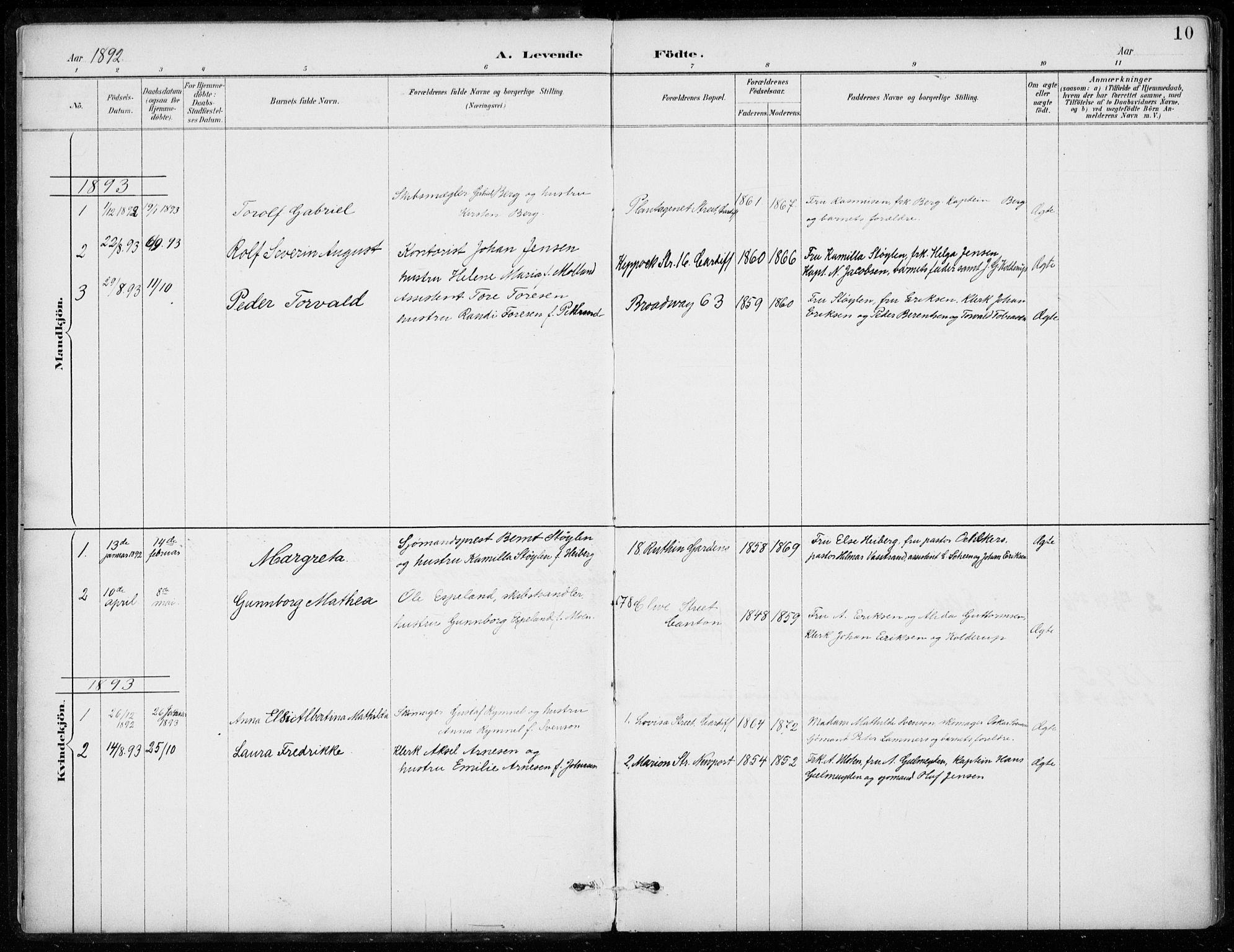 SAB, Den Norske Sjømannsmisjon i utlandet*, Ministerialbok nr. A 2, 1887-1932, s. 10