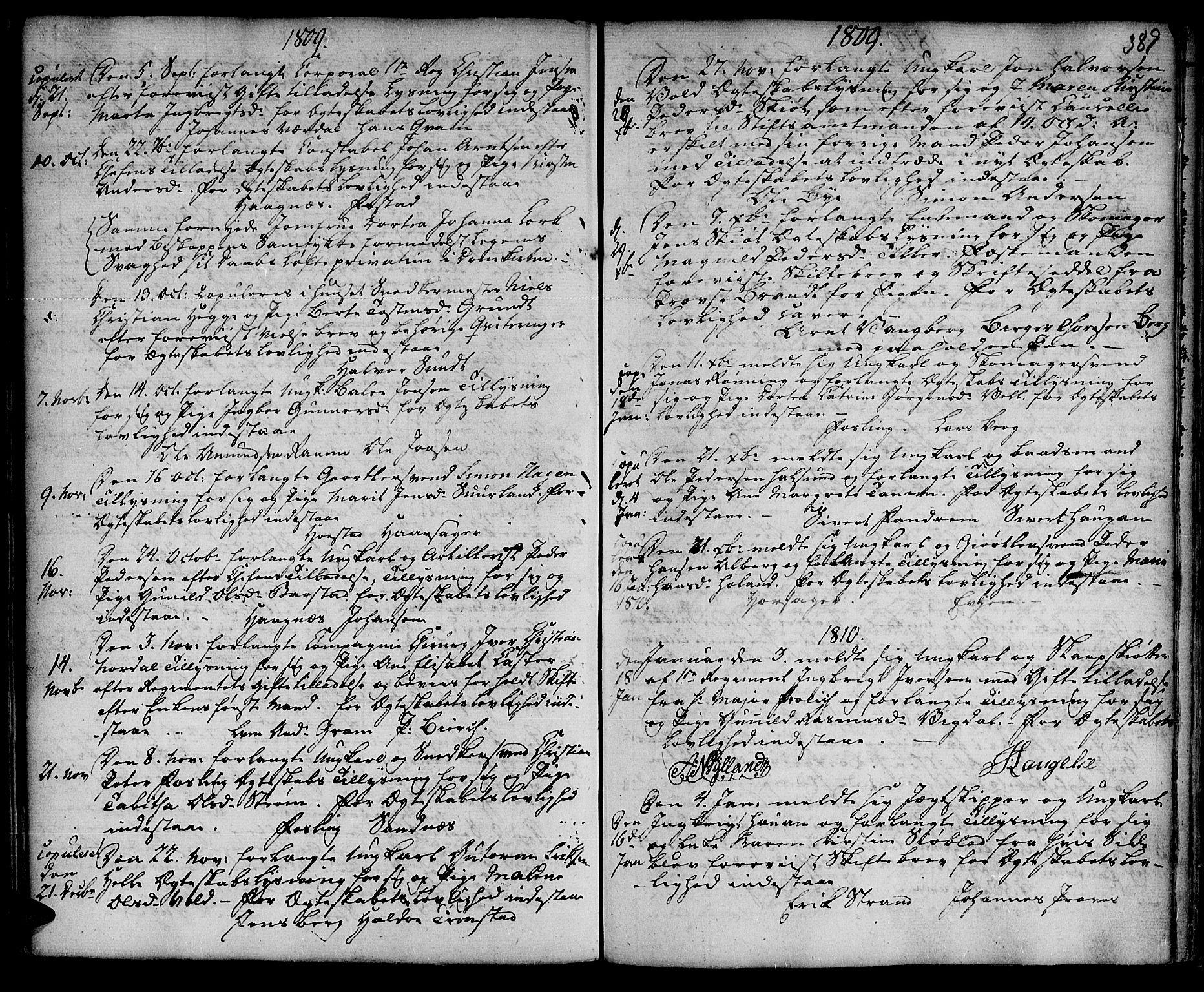 SAT, Ministerialprotokoller, klokkerbøker og fødselsregistre - Sør-Trøndelag, 601/L0038: Ministerialbok nr. 601A06, 1766-1877, s. 389