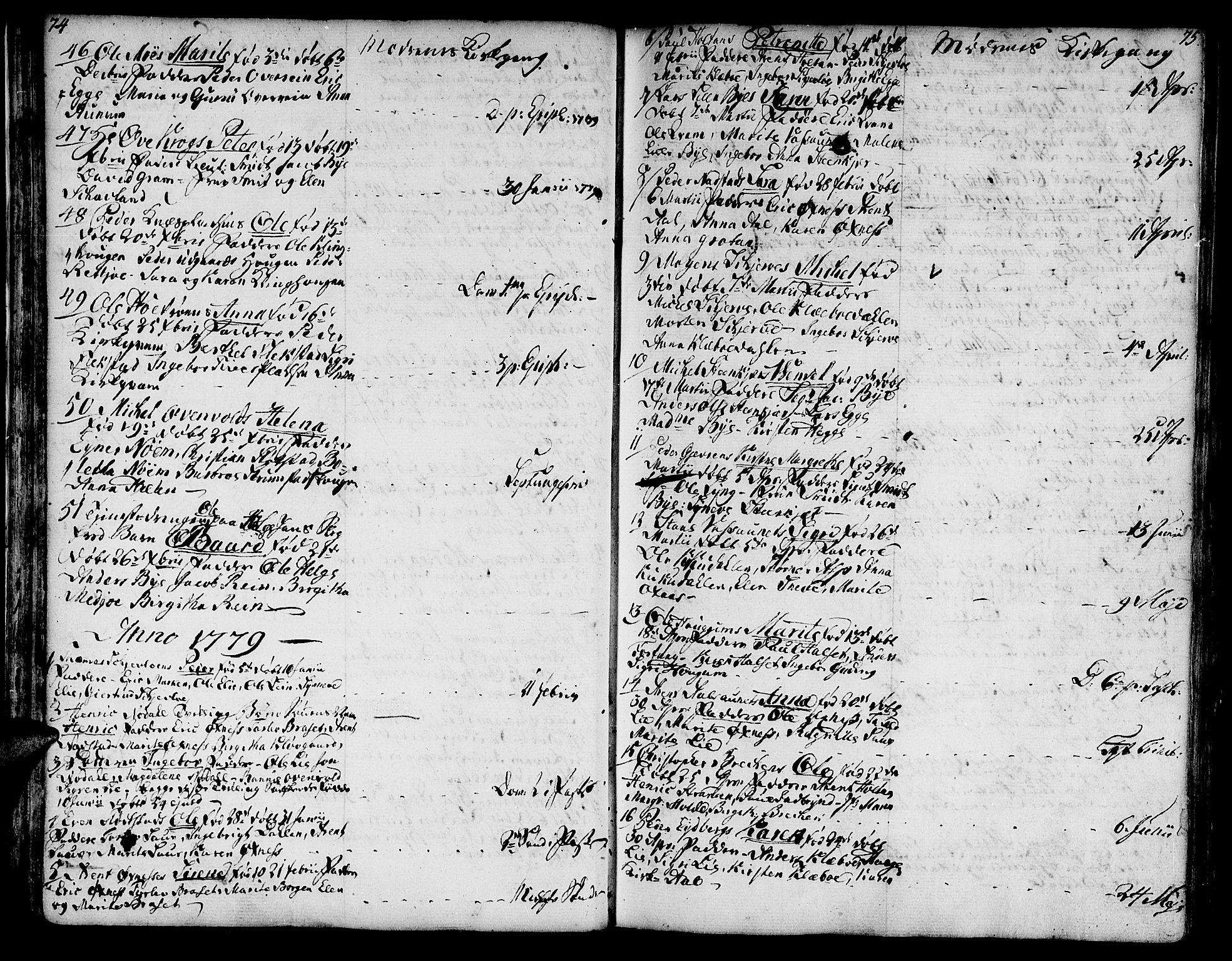 SAT, Ministerialprotokoller, klokkerbøker og fødselsregistre - Nord-Trøndelag, 746/L0440: Ministerialbok nr. 746A02, 1760-1815, s. 74-75
