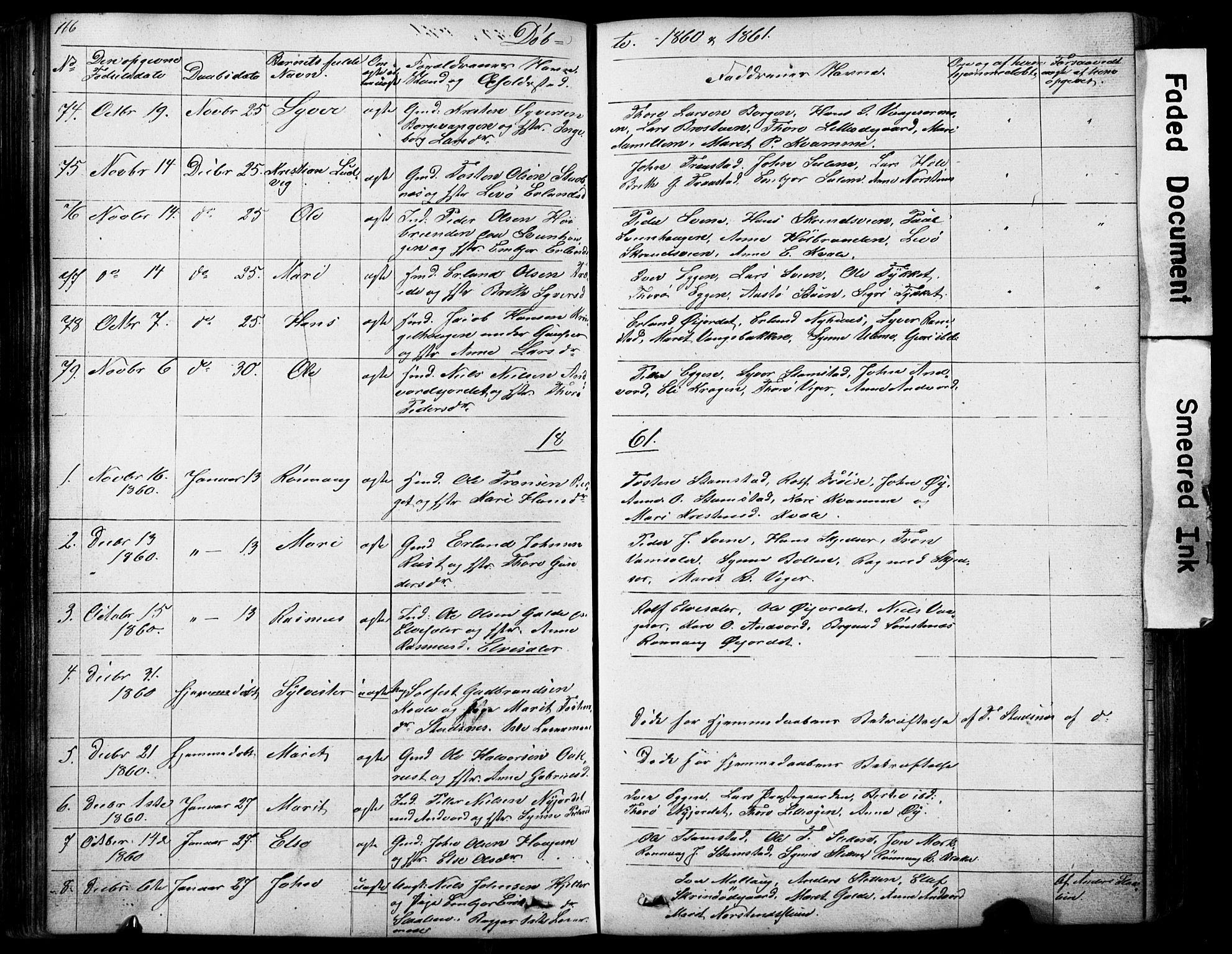 SAH, Lom prestekontor, L/L0012: Klokkerbok nr. 12, 1845-1873, s. 166-167
