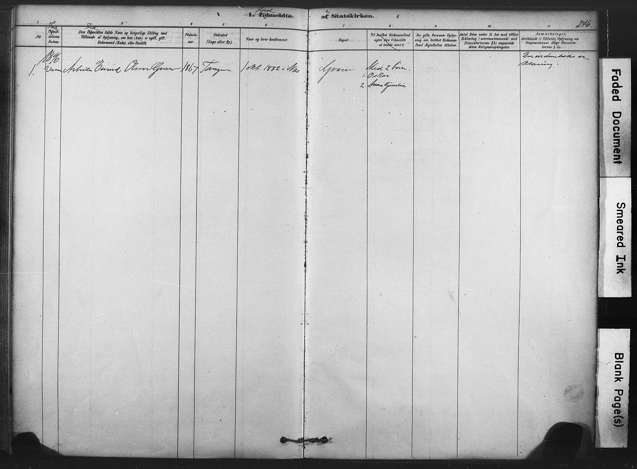 SAKO, Sauherad kirkebøker, F/Fb/L0002: Ministerialbok nr. II 2, 1878-1901, s. 246