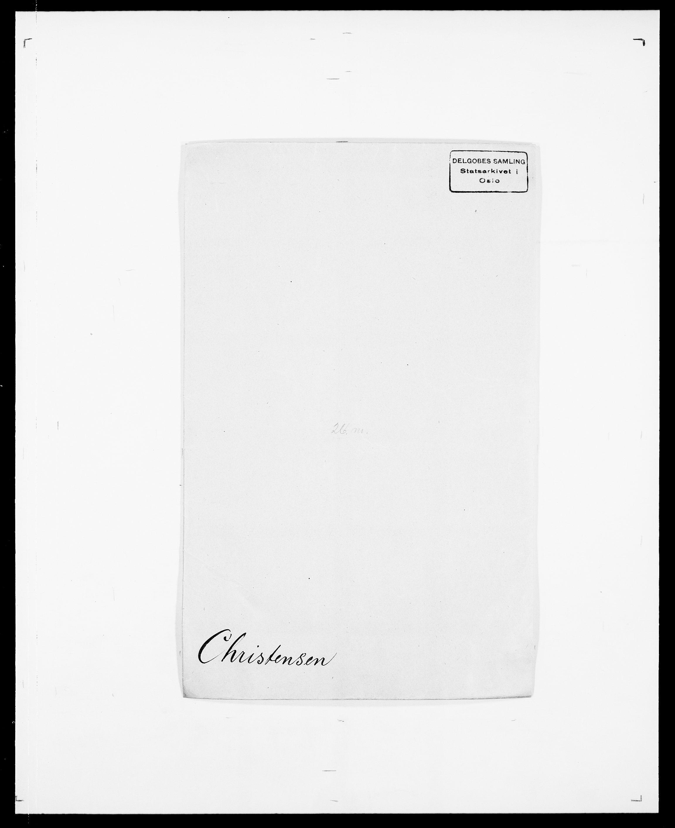 SAO, Delgobe, Charles Antoine - samling, D/Da/L0008: Capjon - Dagenbolt, s. 186