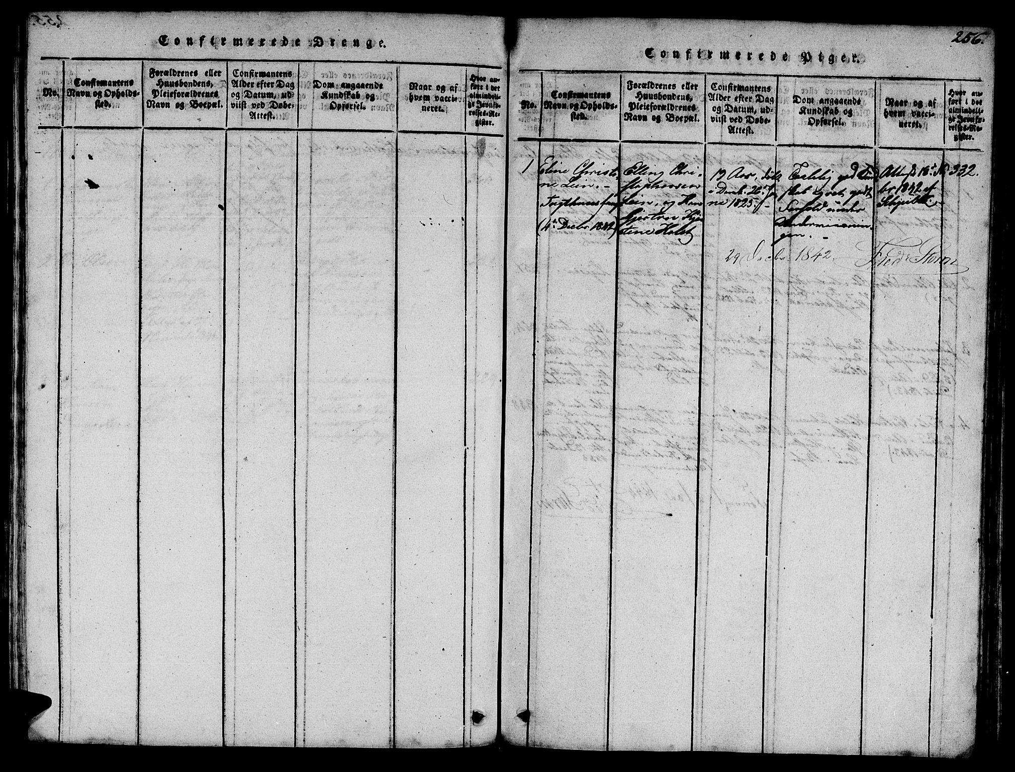 SAT, Ministerialprotokoller, klokkerbøker og fødselsregistre - Sør-Trøndelag, 623/L0478: Klokkerbok nr. 623C01, 1815-1873, s. 256