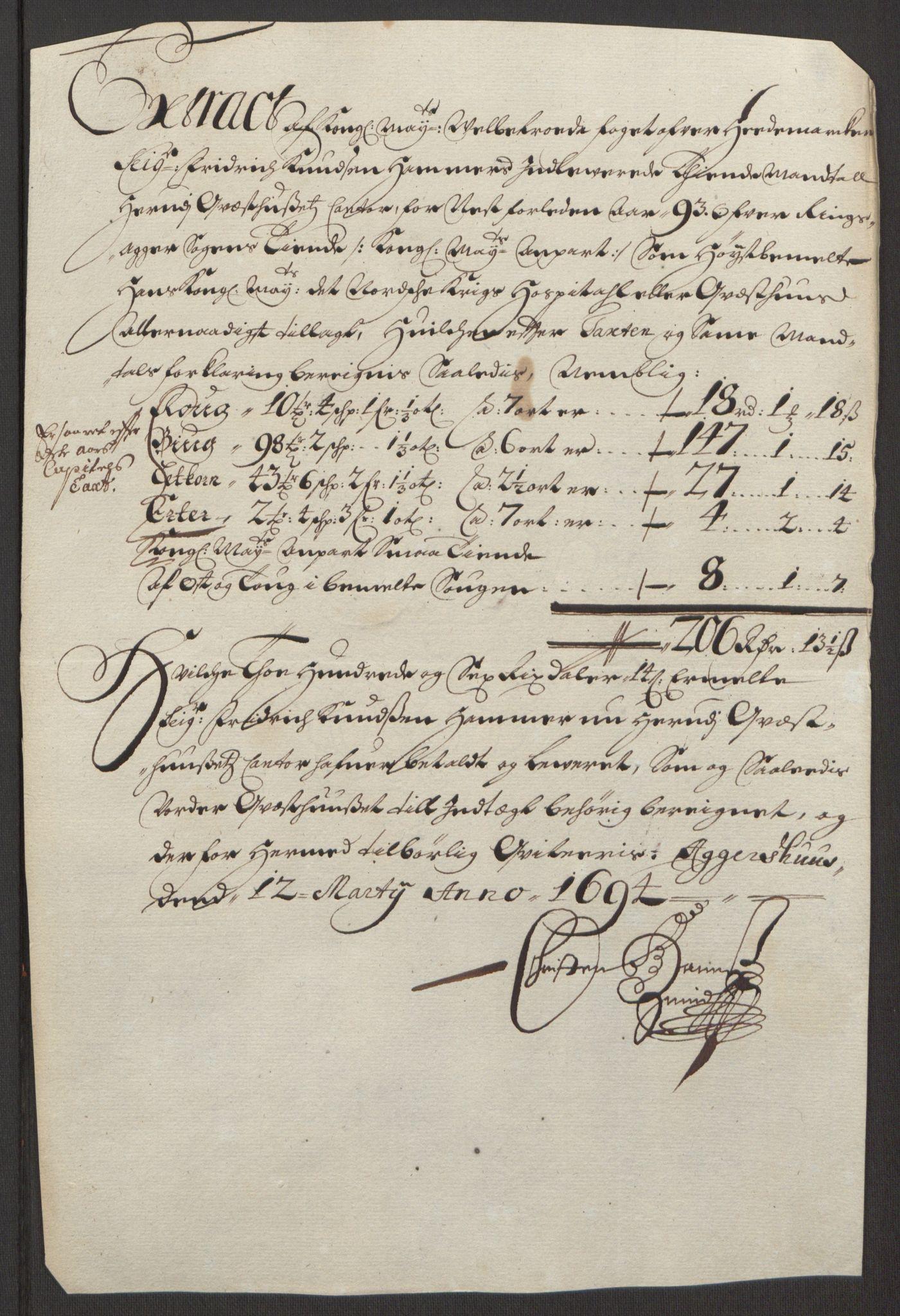 RA, Rentekammeret inntil 1814, Reviderte regnskaper, Fogderegnskap, R16/L1034: Fogderegnskap Hedmark, 1693, s. 161
