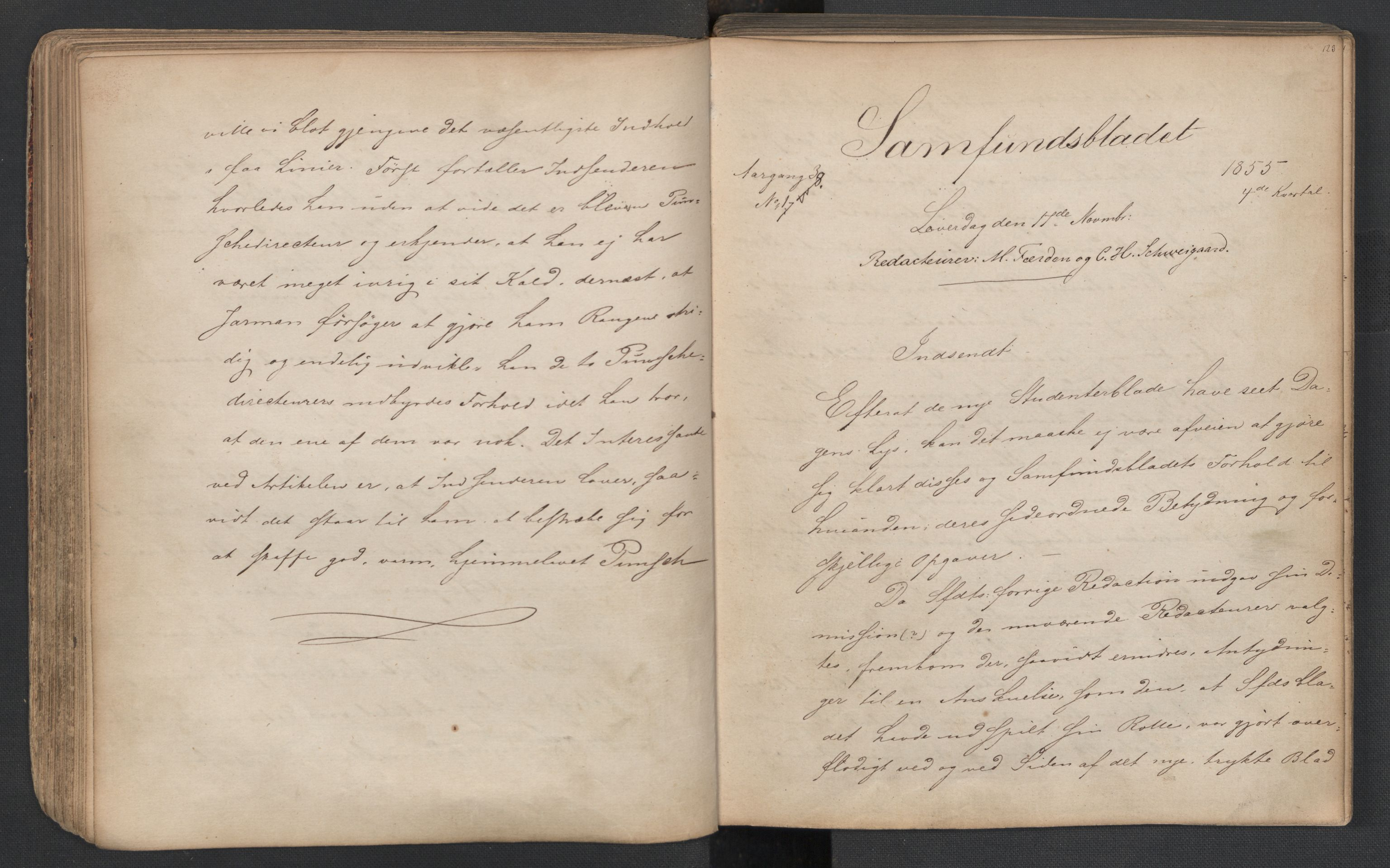RA, Det Norske Studentersamfund, X/Xa/L0005, 1855-1856, s. 63