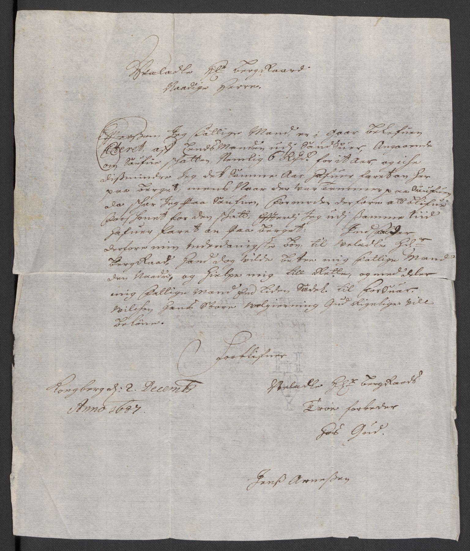 RA, Rentekammeret inntil 1814, Reviderte regnskaper, Fogderegnskap, R24/L1573: Fogderegnskap Numedal og Sandsvær, 1687-1691, s. 197
