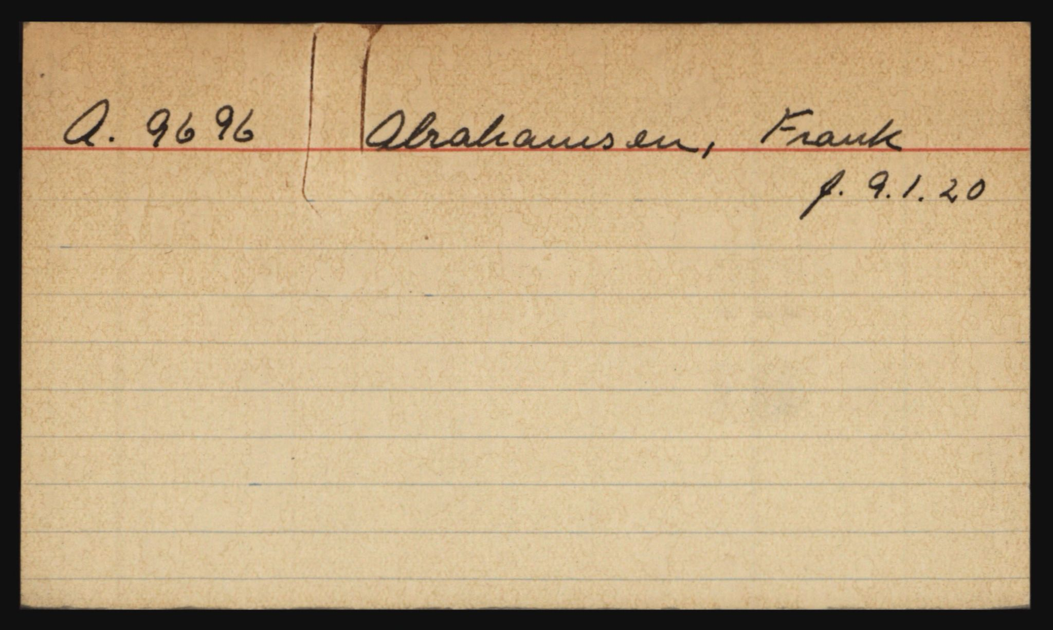 RA, Befehlshaber der Sicherheitspolizei und des SD, E/Eb/L0001: Kartotekkort over fanger i Akershus fengsel: A-K, 1940-1945