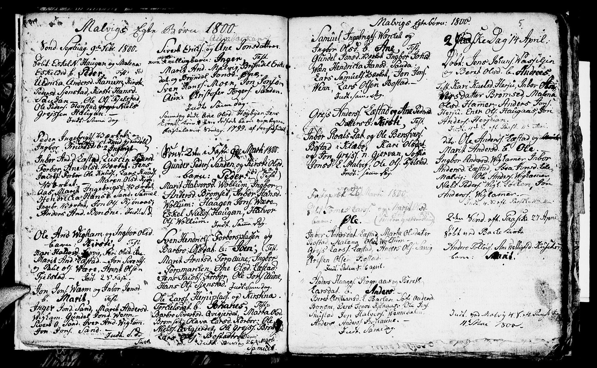 SAT, Ministerialprotokoller, klokkerbøker og fødselsregistre - Sør-Trøndelag, 616/L0419: Klokkerbok nr. 616C02, 1797-1816, s. 5