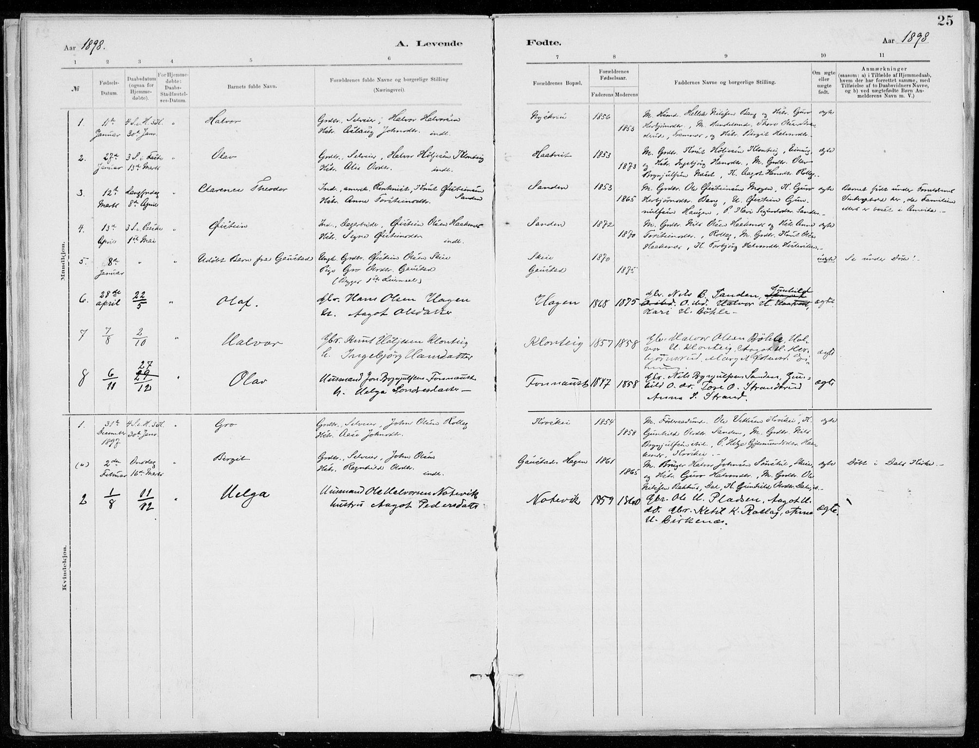 SAKO, Tinn kirkebøker, F/Fb/L0002: Ministerialbok nr. II 2, 1878-1917, s. 25
