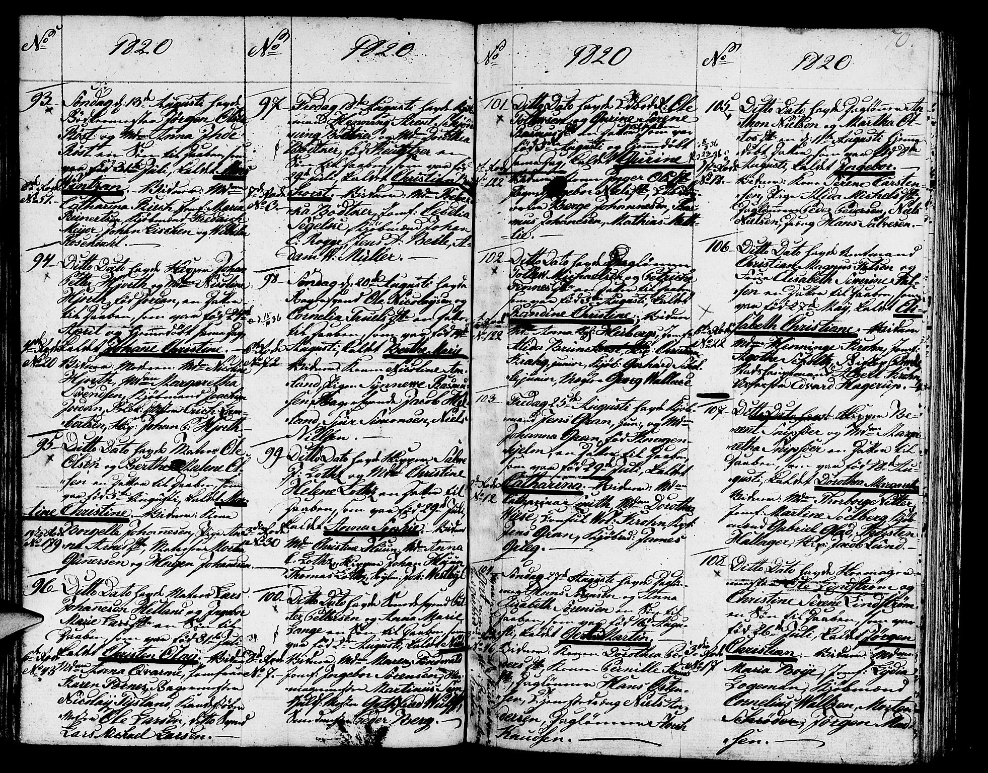 SAB, Nykirken Sokneprestembete, H/Haa: Ministerialbok nr. A 6, 1808-1820, s. 70