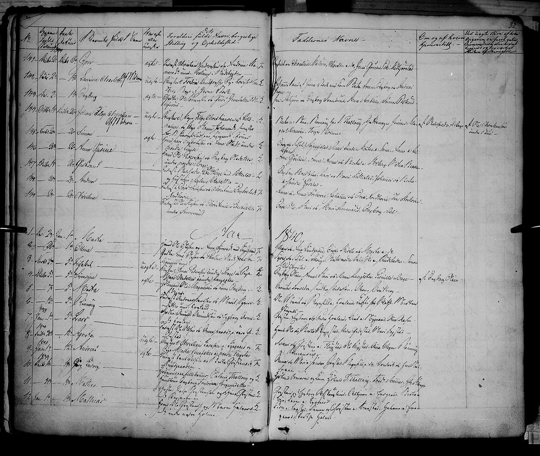 SAH, Fåberg prestekontor, Ministerialbok nr. 5, 1836-1854, s. 31-32