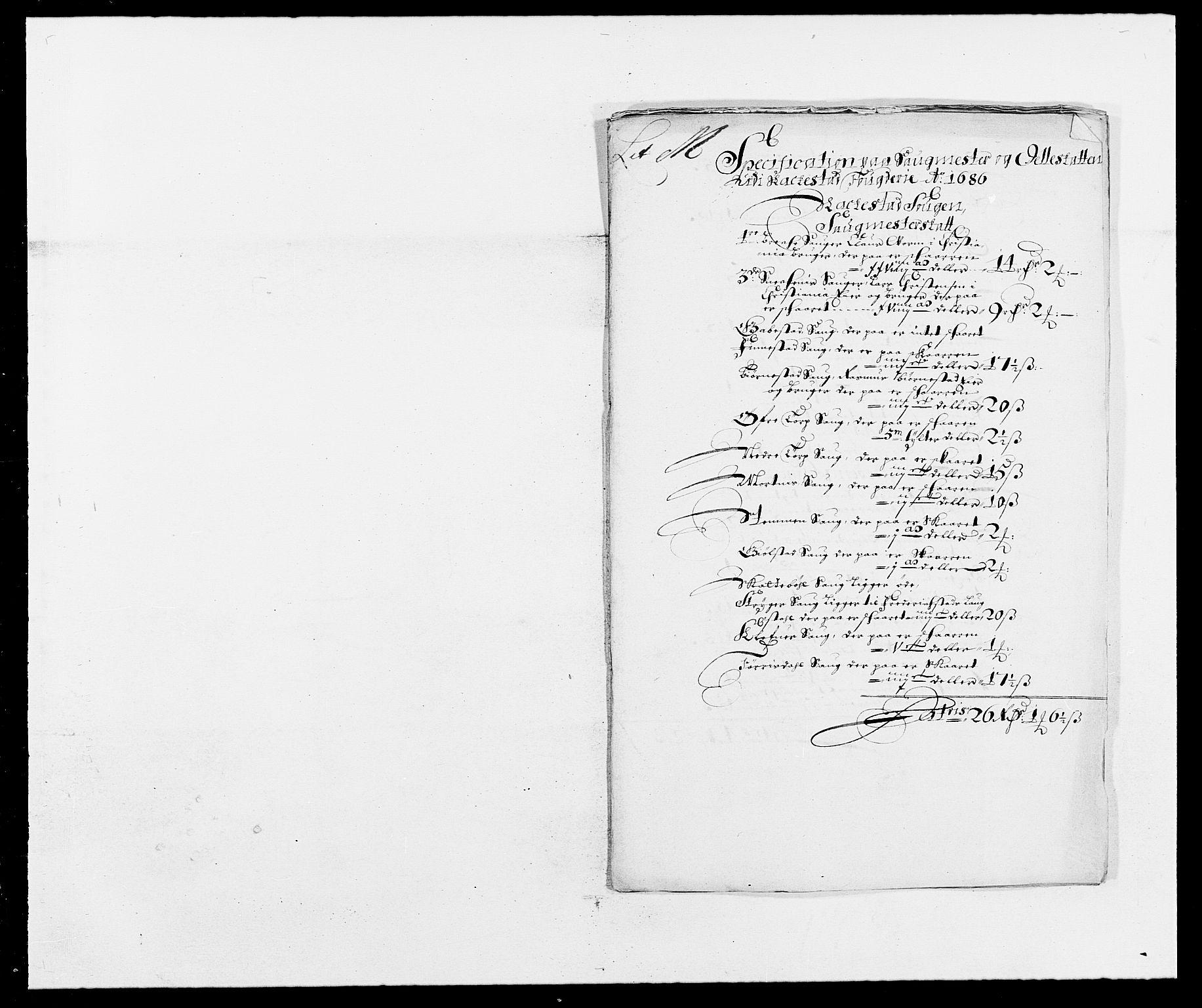 RA, Rentekammeret inntil 1814, Reviderte regnskaper, Fogderegnskap, R05/L0275: Fogderegnskap Rakkestad, 1685-1686, s. 267
