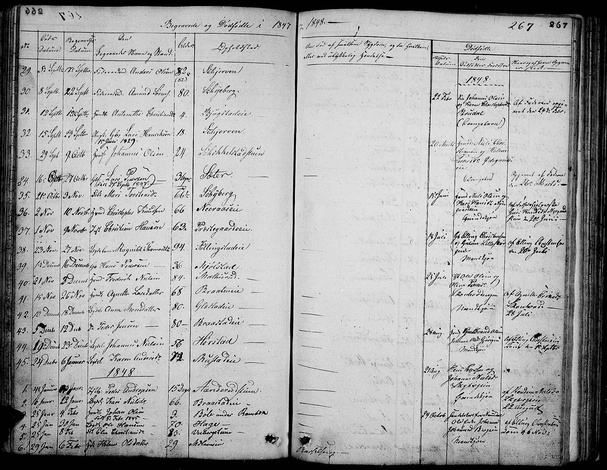 SAH, Vardal prestekontor, H/Ha/Hab/L0004: Klokkerbok nr. 4, 1831-1853, s. 267