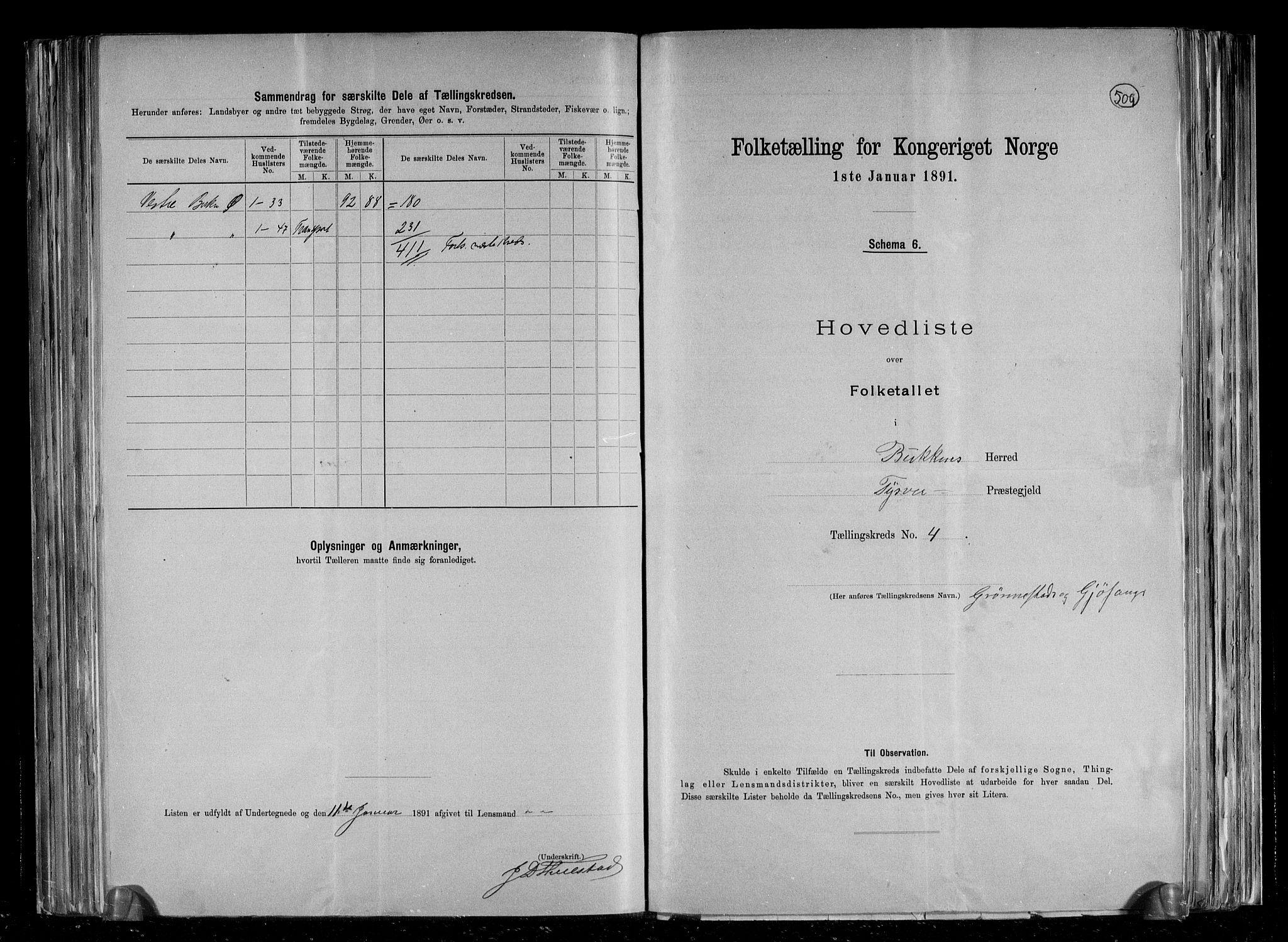 RA, Folketelling 1891 for 1145 Bokn herred, 1891, s. 11