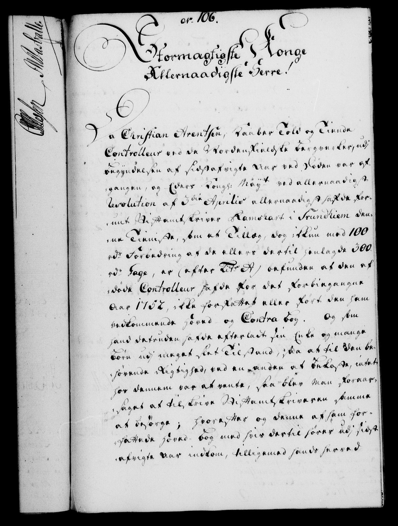 RA, Rentekammeret, Kammerkanselliet, G/Gf/Gfa/L0036: Norsk relasjons- og resolusjonsprotokoll (merket RK 52.36), 1754, s. 599