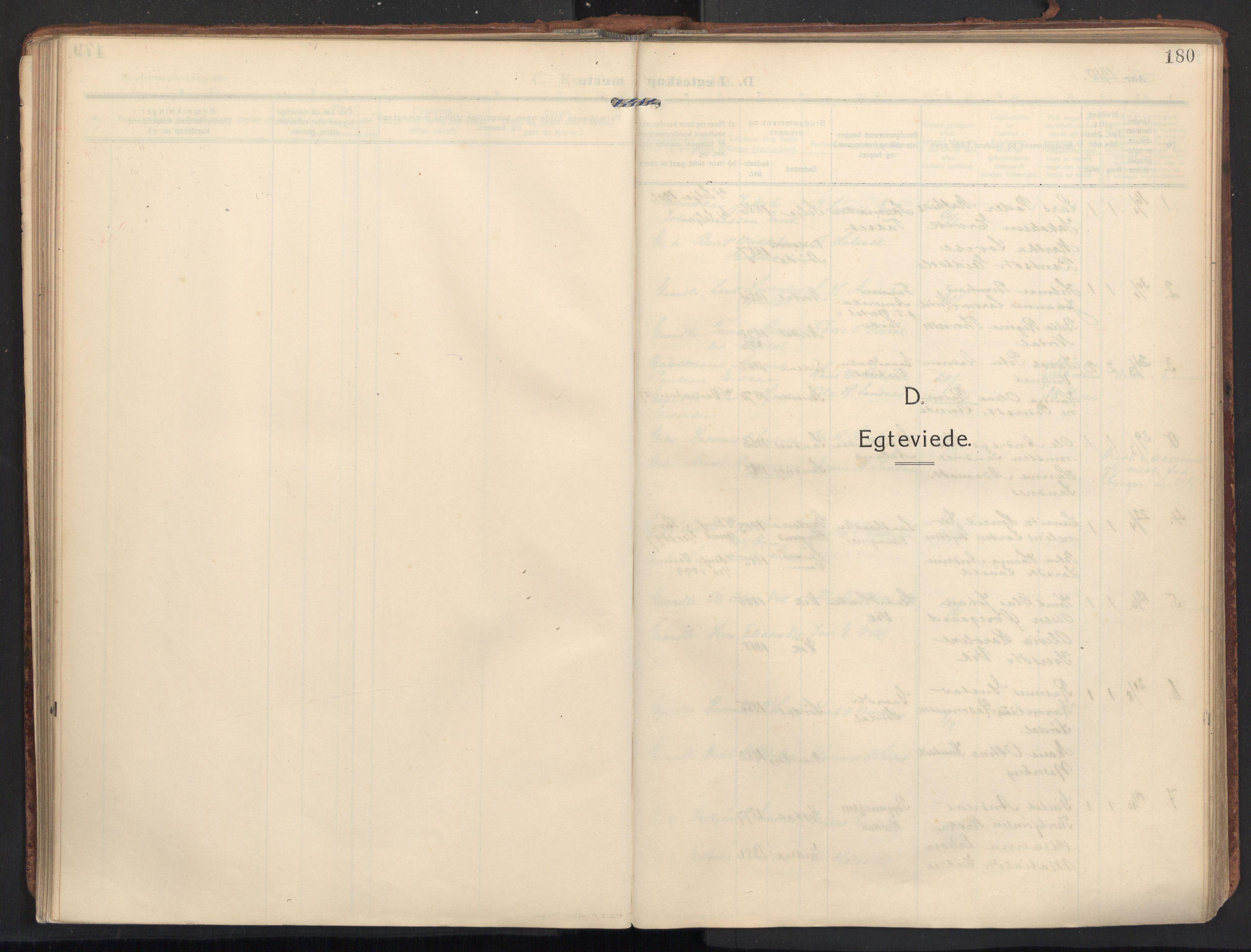 SAT, Ministerialprotokoller, klokkerbøker og fødselsregistre - Møre og Romsdal, 502/L0026: Ministerialbok nr. 502A04, 1909-1933, s. 180