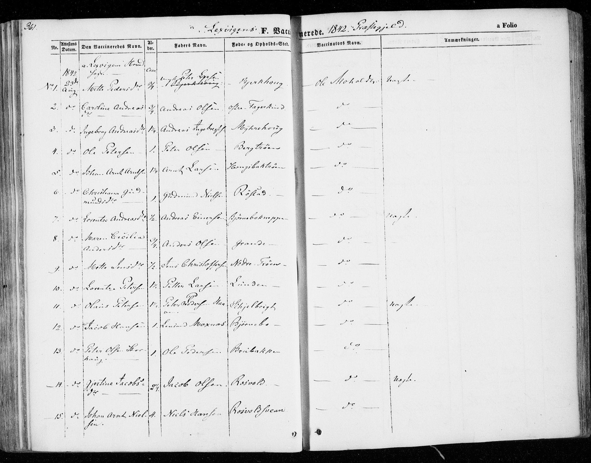 SAT, Ministerialprotokoller, klokkerbøker og fødselsregistre - Nord-Trøndelag, 701/L0007: Ministerialbok nr. 701A07 /1, 1842-1854, s. 361