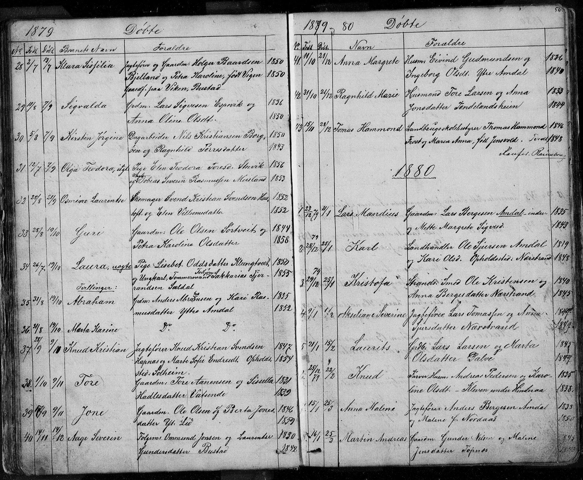SAST, Nedstrand sokneprestkontor, V: Klokkerbok nr. B 3, 1848-1933, s. 56
