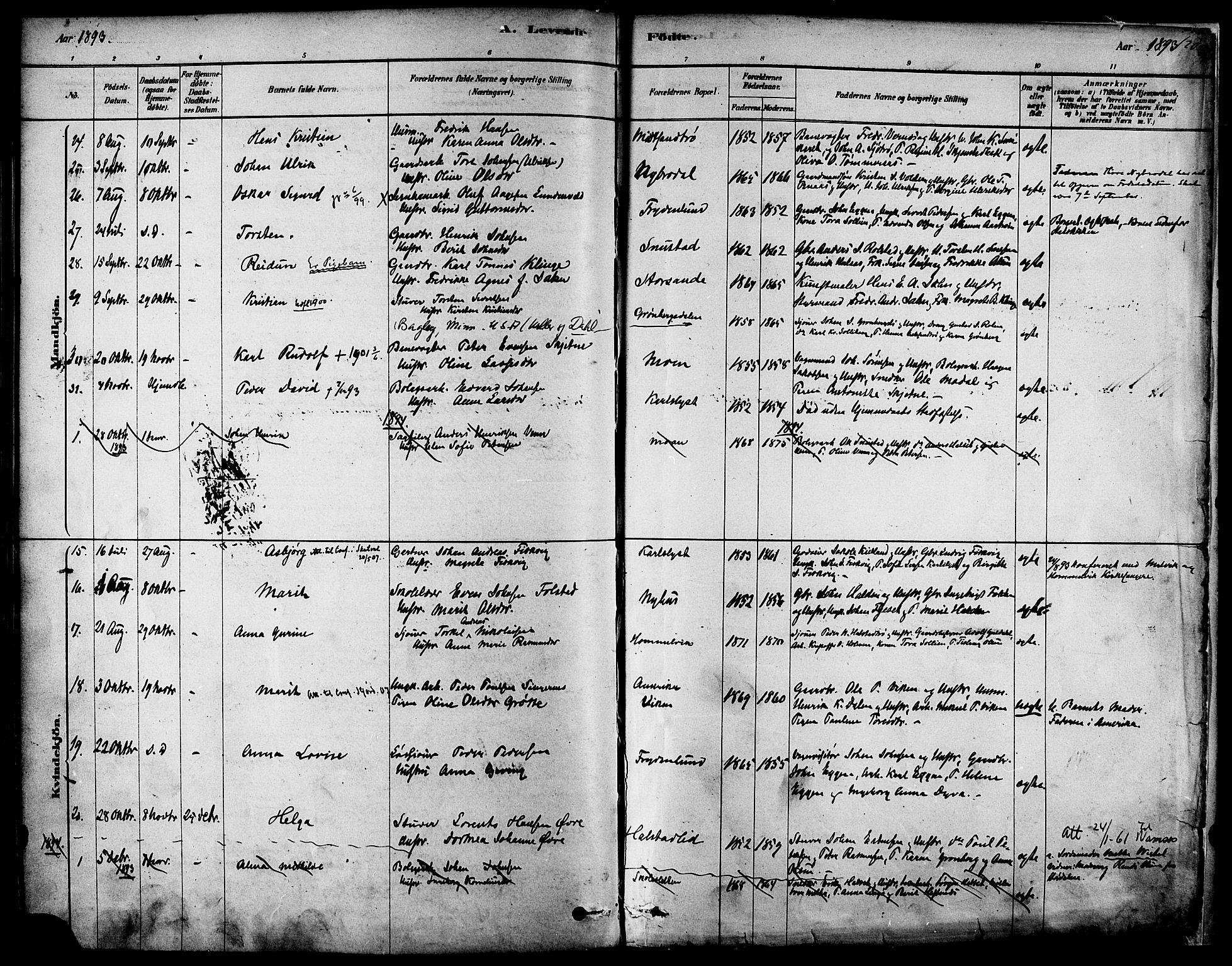 SAT, Ministerialprotokoller, klokkerbøker og fødselsregistre - Sør-Trøndelag, 616/L0410: Ministerialbok nr. 616A07, 1878-1893, s. 120