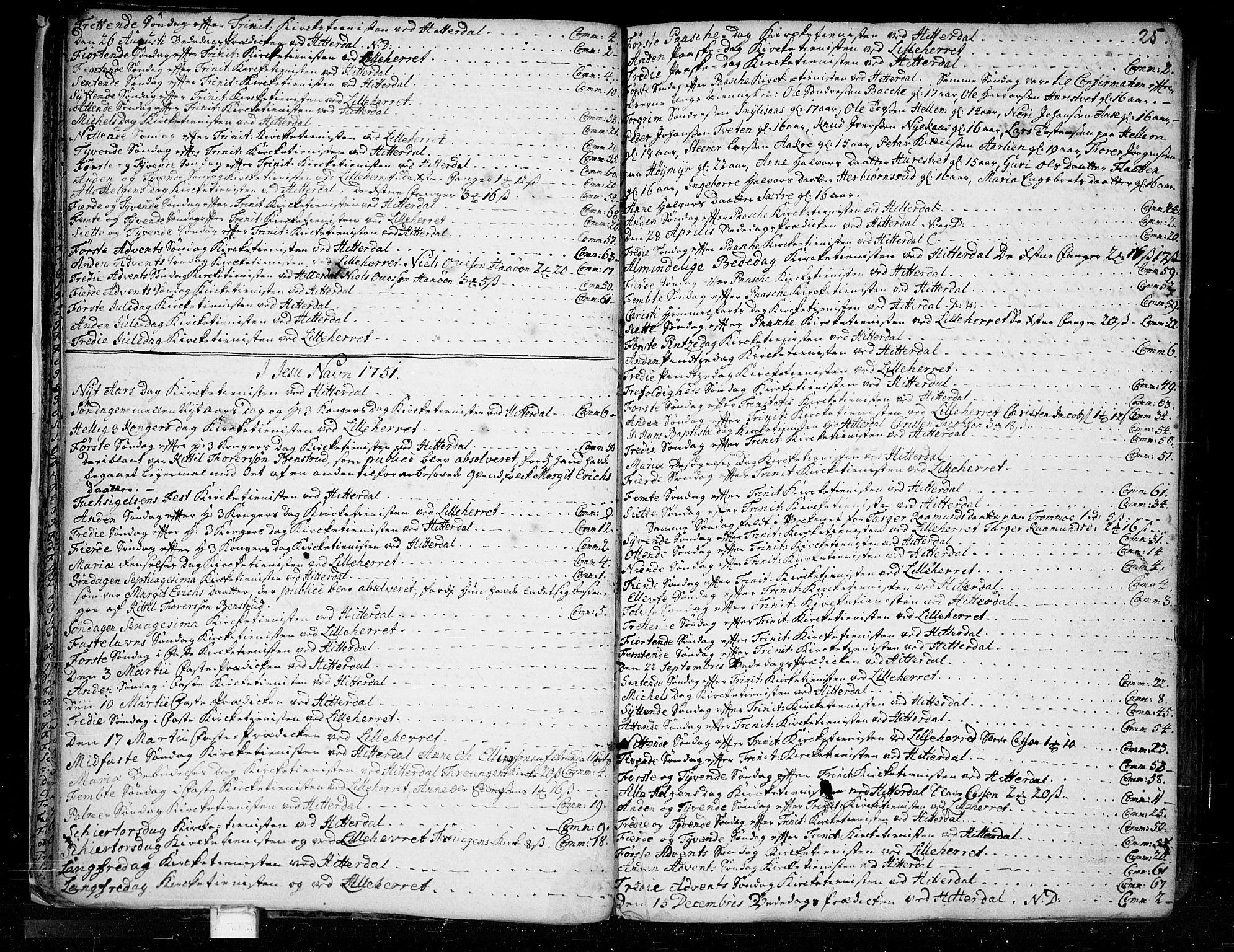 SAKO, Heddal kirkebøker, F/Fa/L0003: Ministerialbok nr. I 3, 1723-1783, s. 25