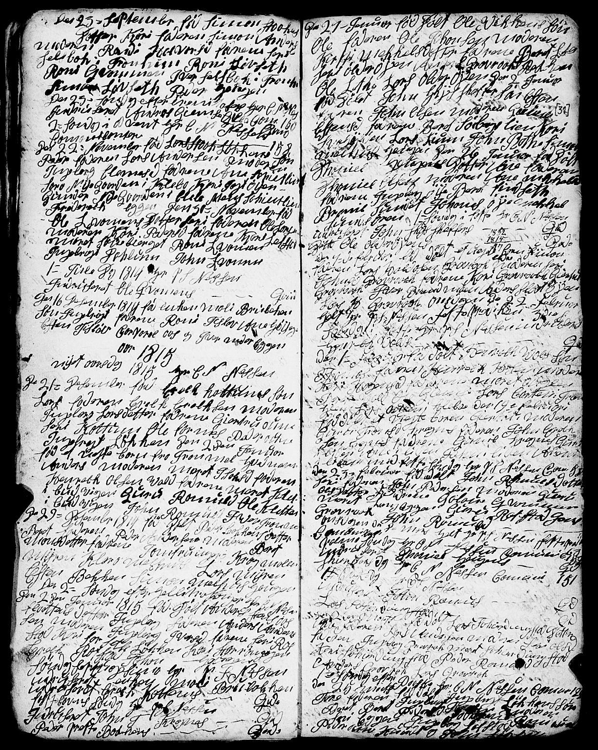 SAT, Ministerialprotokoller, klokkerbøker og fødselsregistre - Sør-Trøndelag, 691/L1091: Klokkerbok nr. 691C02, 1802-1815, s. 31