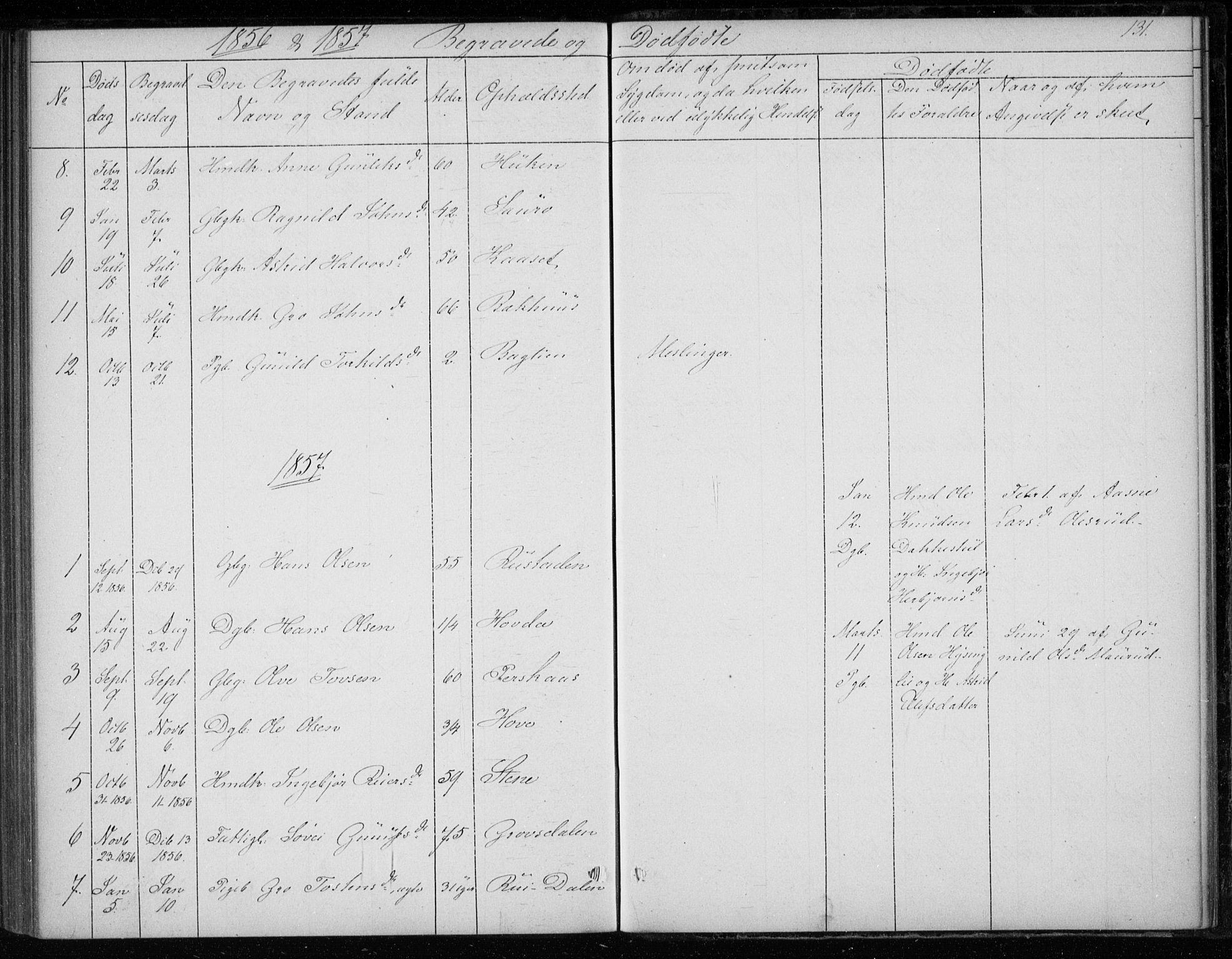 SAKO, Gransherad kirkebøker, F/Fb/L0003: Ministerialbok nr. II 3, 1844-1859, s. 131