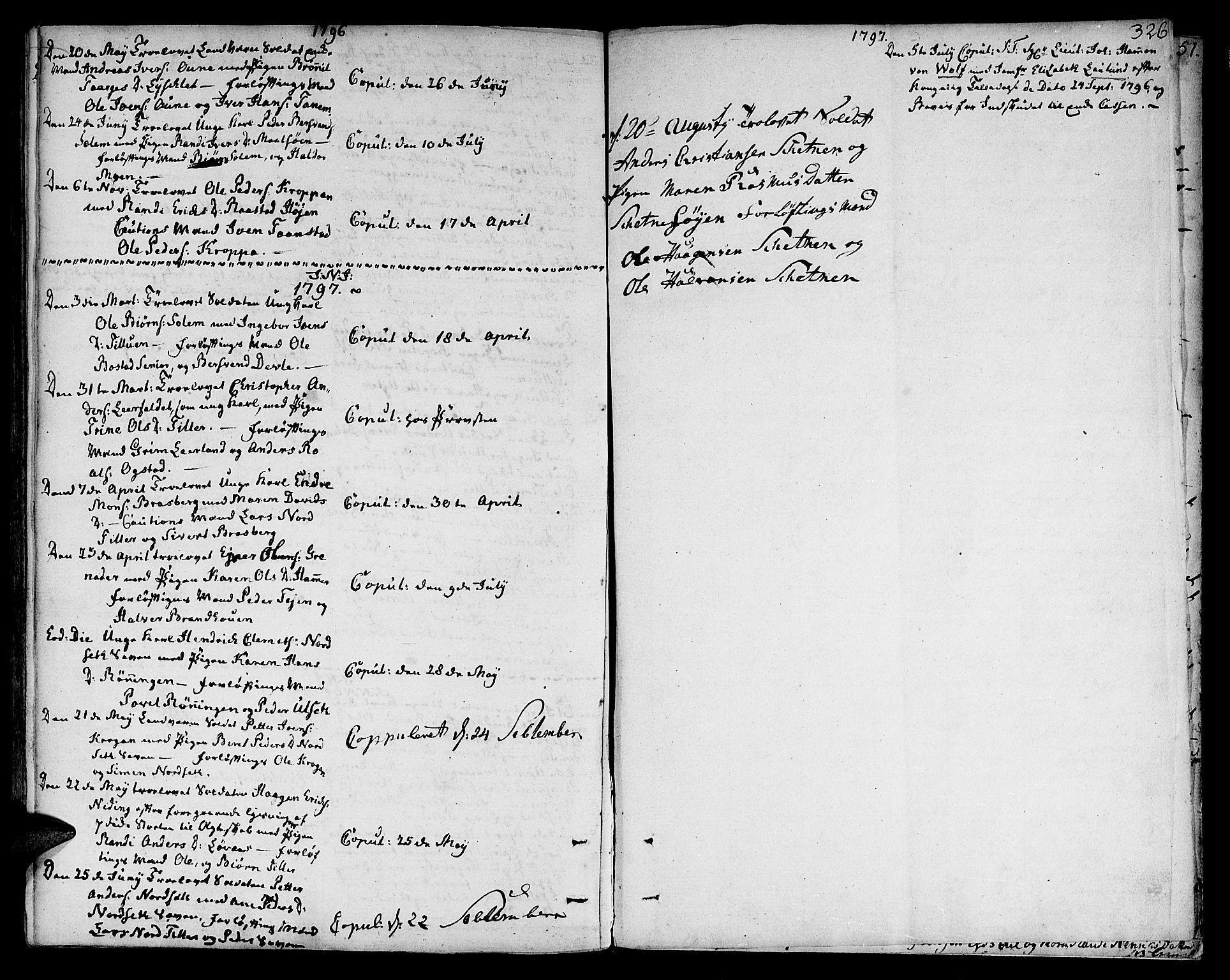 SAT, Ministerialprotokoller, klokkerbøker og fødselsregistre - Sør-Trøndelag, 618/L0438: Ministerialbok nr. 618A03, 1783-1815, s. 326