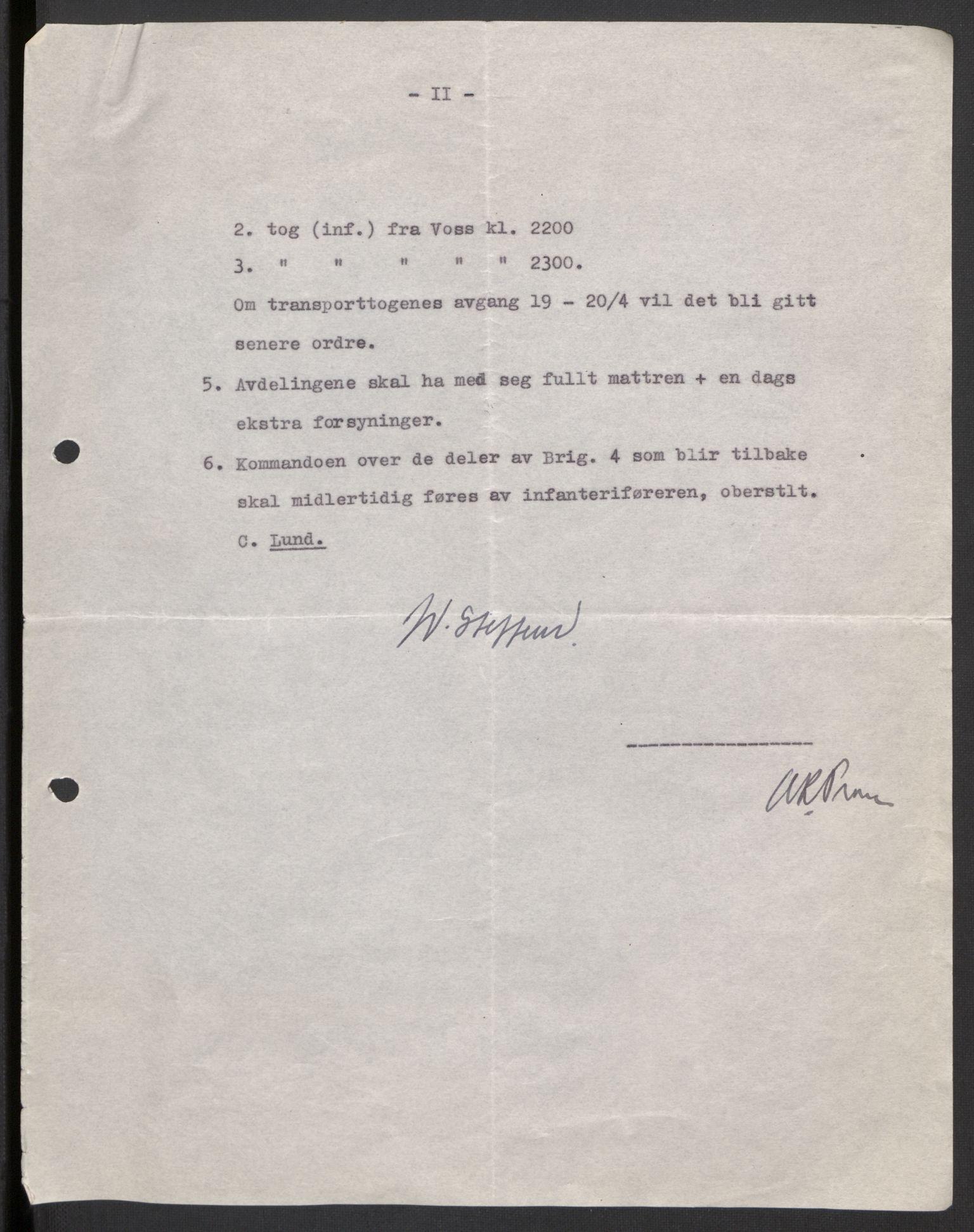 RA, Forsvaret, Forsvarets krigshistoriske avdeling, Y/Yb/L0104: II-C-11-430  -  4. Divisjon., 1940, s. 184