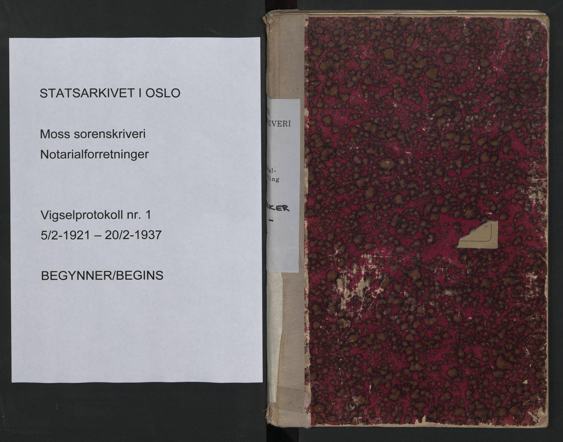 SAO, Moss sorenskriveri, 1921-1937, s. upaginert