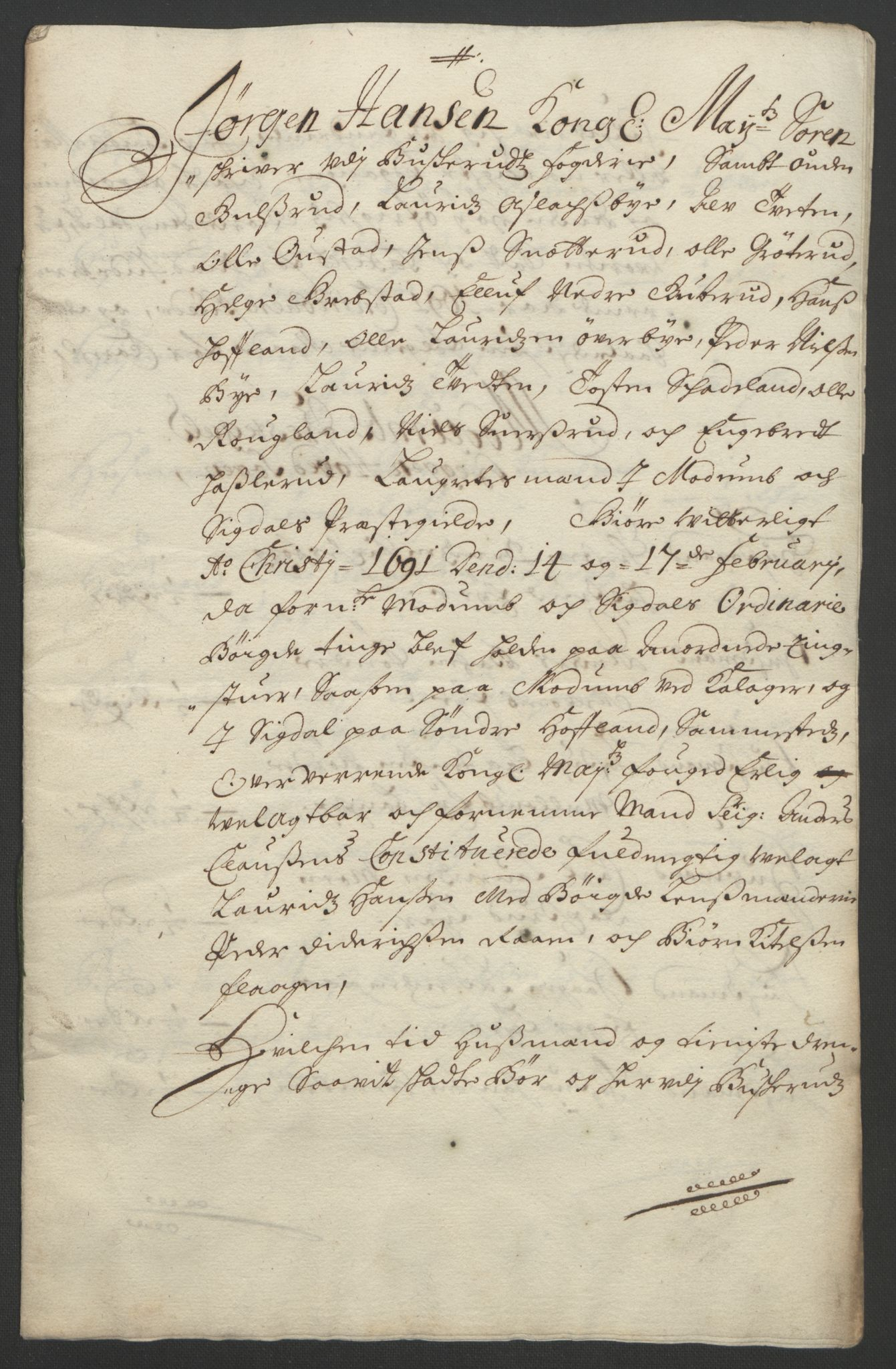 RA, Rentekammeret inntil 1814, Reviderte regnskaper, Fogderegnskap, R25/L1681: Fogderegnskap Buskerud, 1691-1692, s. 202