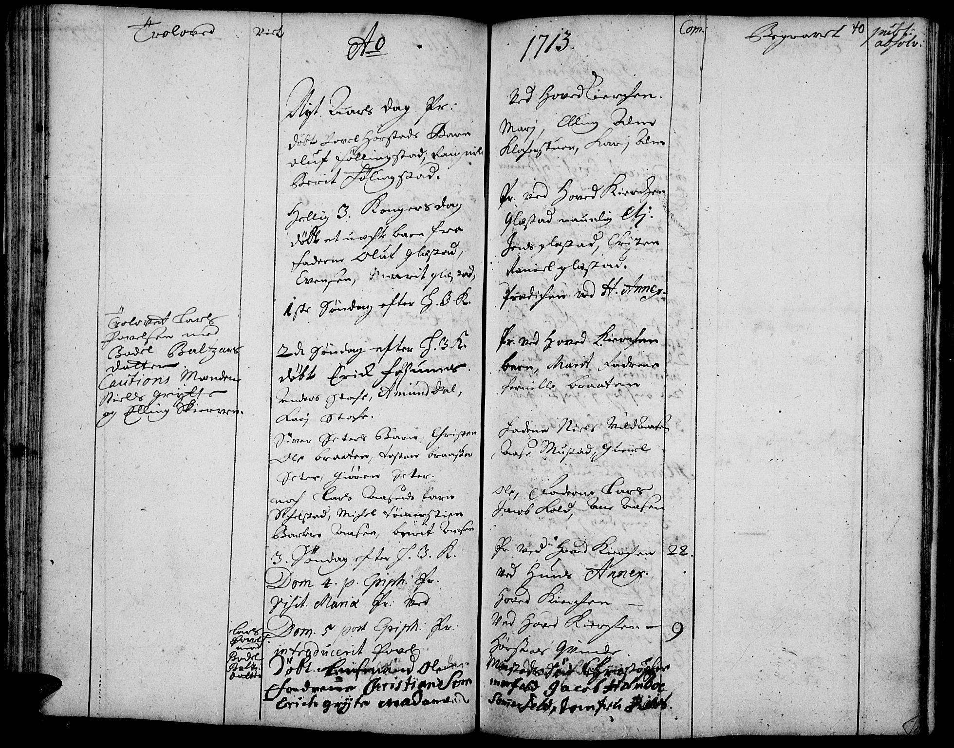 SAH, Vardal prestekontor, H/Ha/Haa/L0001: Ministerialbok nr. 1, 1706-1748, s. 40