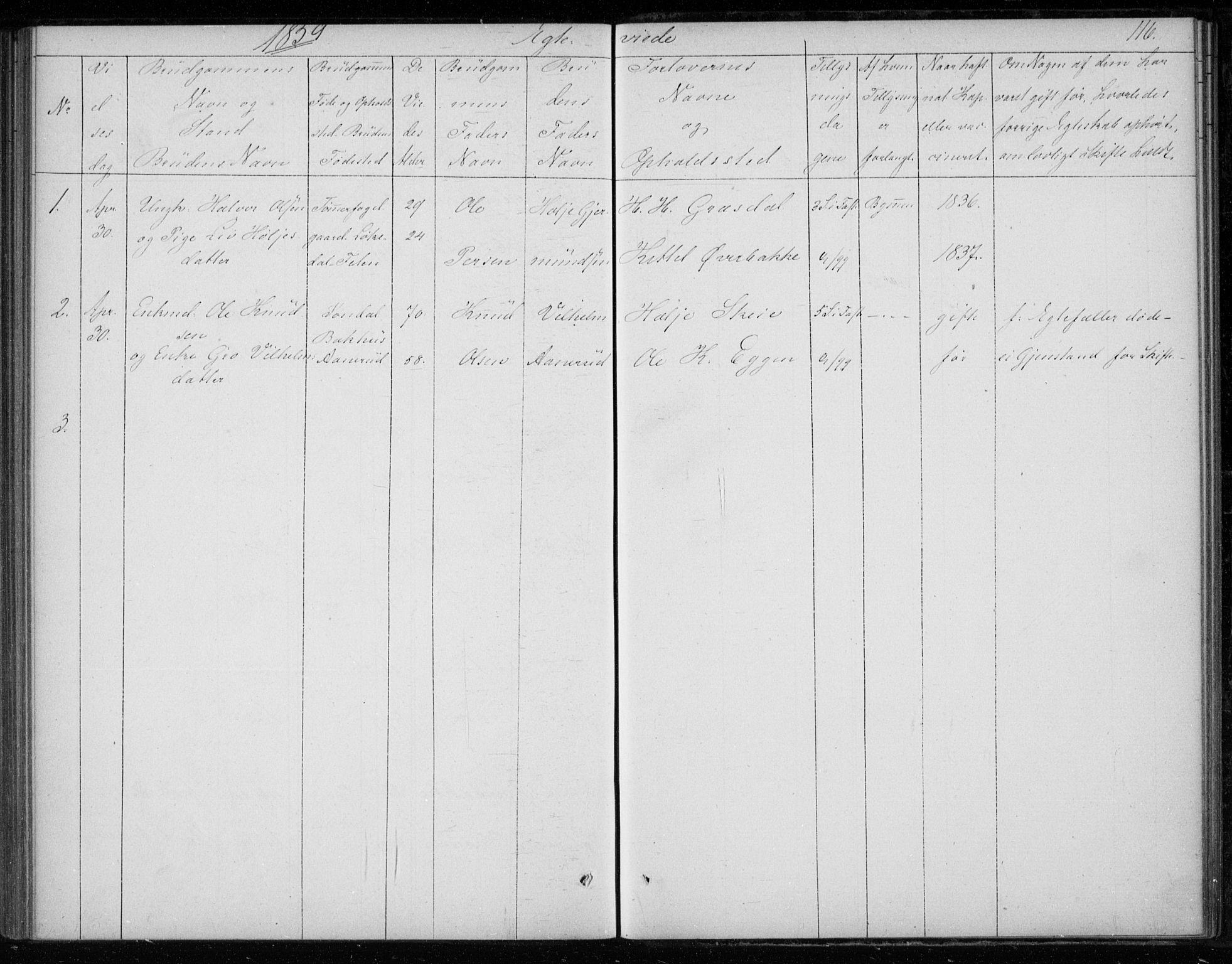 SAKO, Gransherad kirkebøker, F/Fb/L0003: Ministerialbok nr. II 3, 1844-1859, s. 116