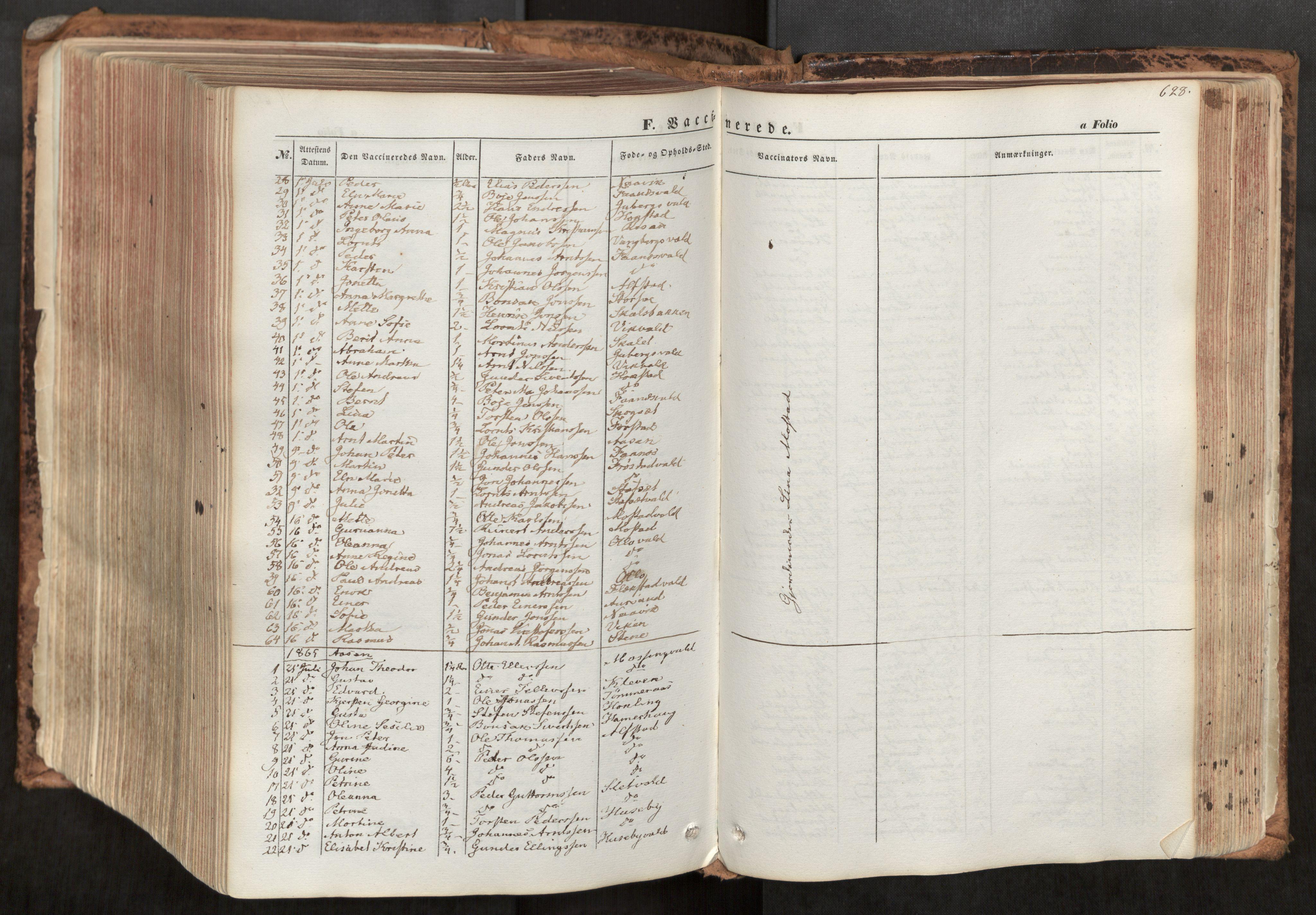 SAT, Ministerialprotokoller, klokkerbøker og fødselsregistre - Nord-Trøndelag, 713/L0116: Ministerialbok nr. 713A07, 1850-1877, s. 628