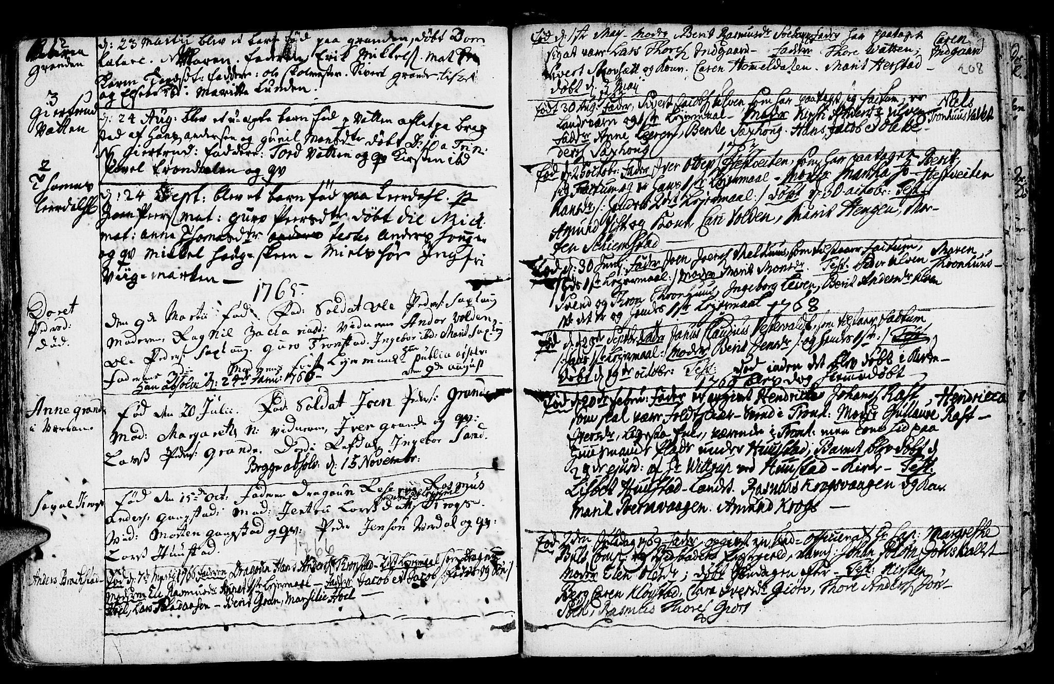 SAT, Ministerialprotokoller, klokkerbøker og fødselsregistre - Nord-Trøndelag, 730/L0273: Ministerialbok nr. 730A02, 1762-1802, s. 208