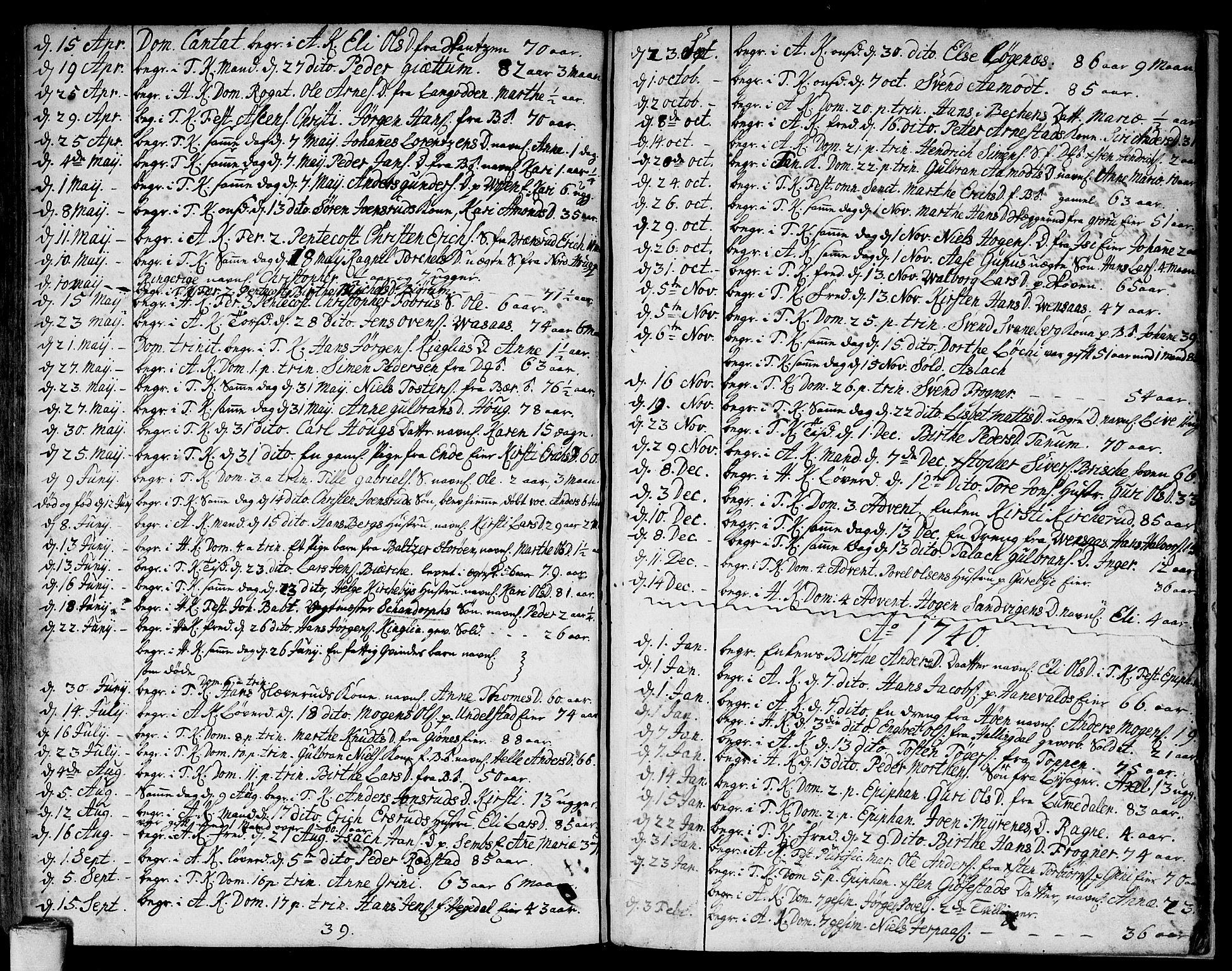 SAO, Asker prestekontor Kirkebøker, F/Fa/L0001: Ministerialbok nr. I 1, 1726-1744, s. 104