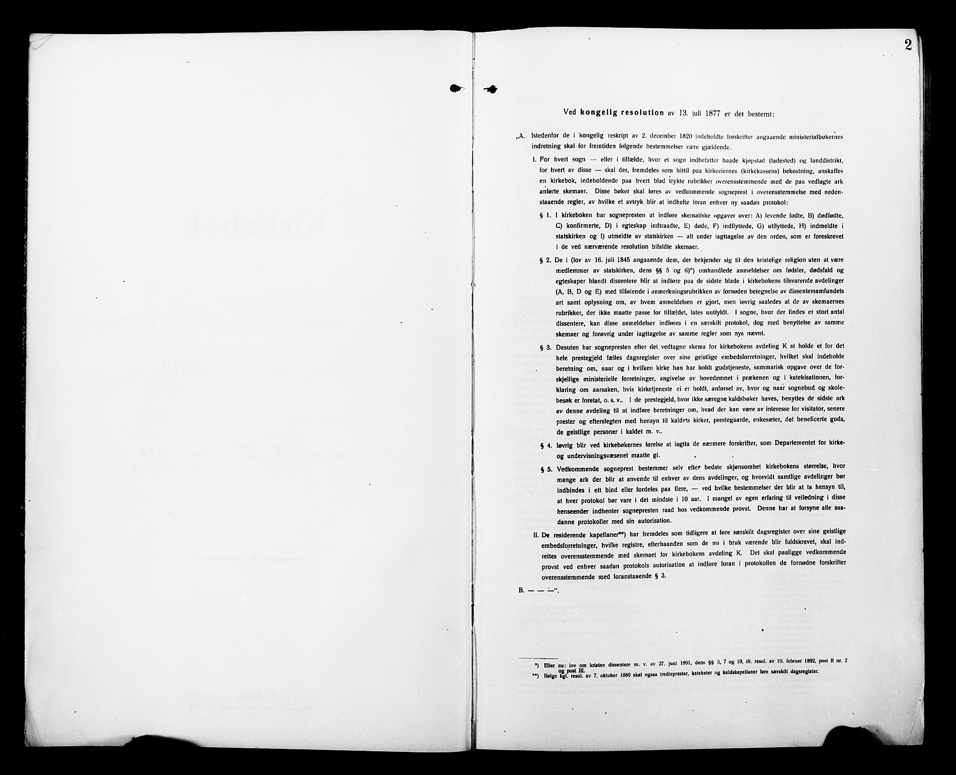 SATØ, Tromsø sokneprestkontor/stiftsprosti/domprosti, G/Gb/L0009klokker: Klokkerbok nr. 9, 1915-1925, s. 2